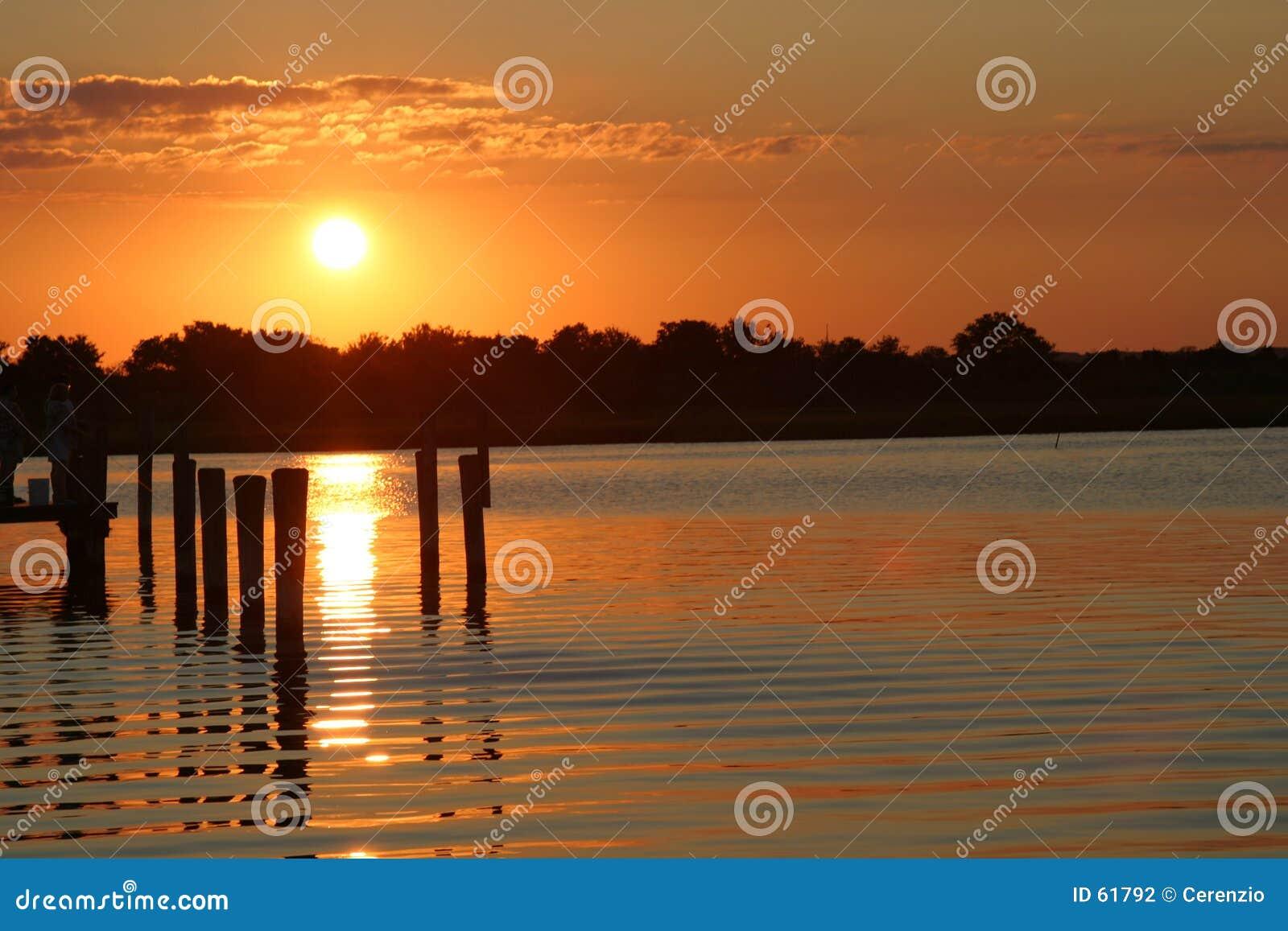 Zonsondergang bij de Kust van Jersey
