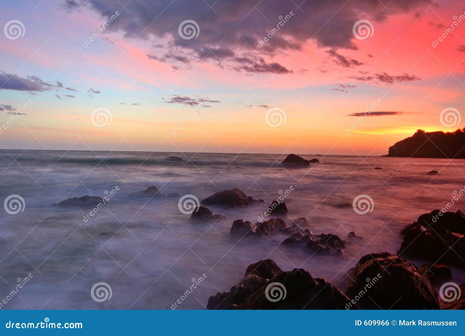 Zonsondergang bij Strand Muir