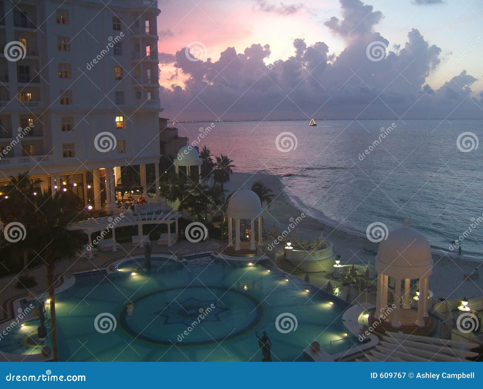 Zonsondergang in Cancun