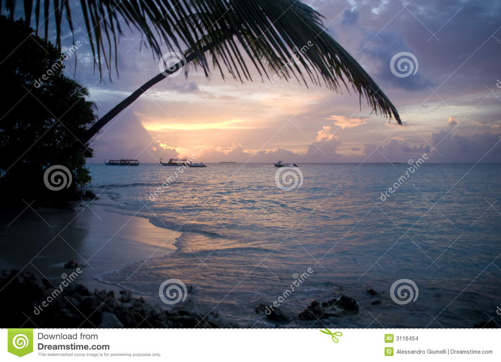 Zonsondergang de Maldiven