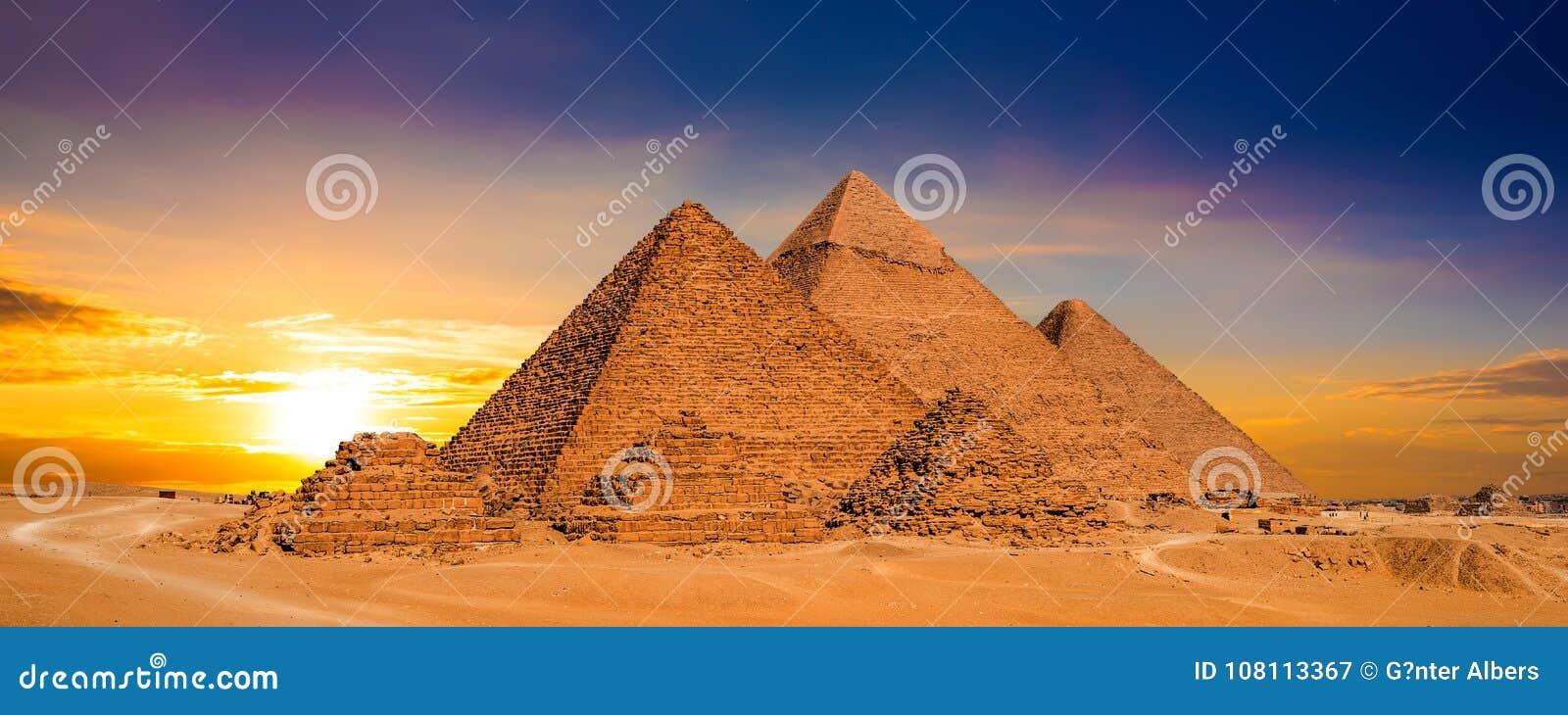 Zonsondergang in Egypte