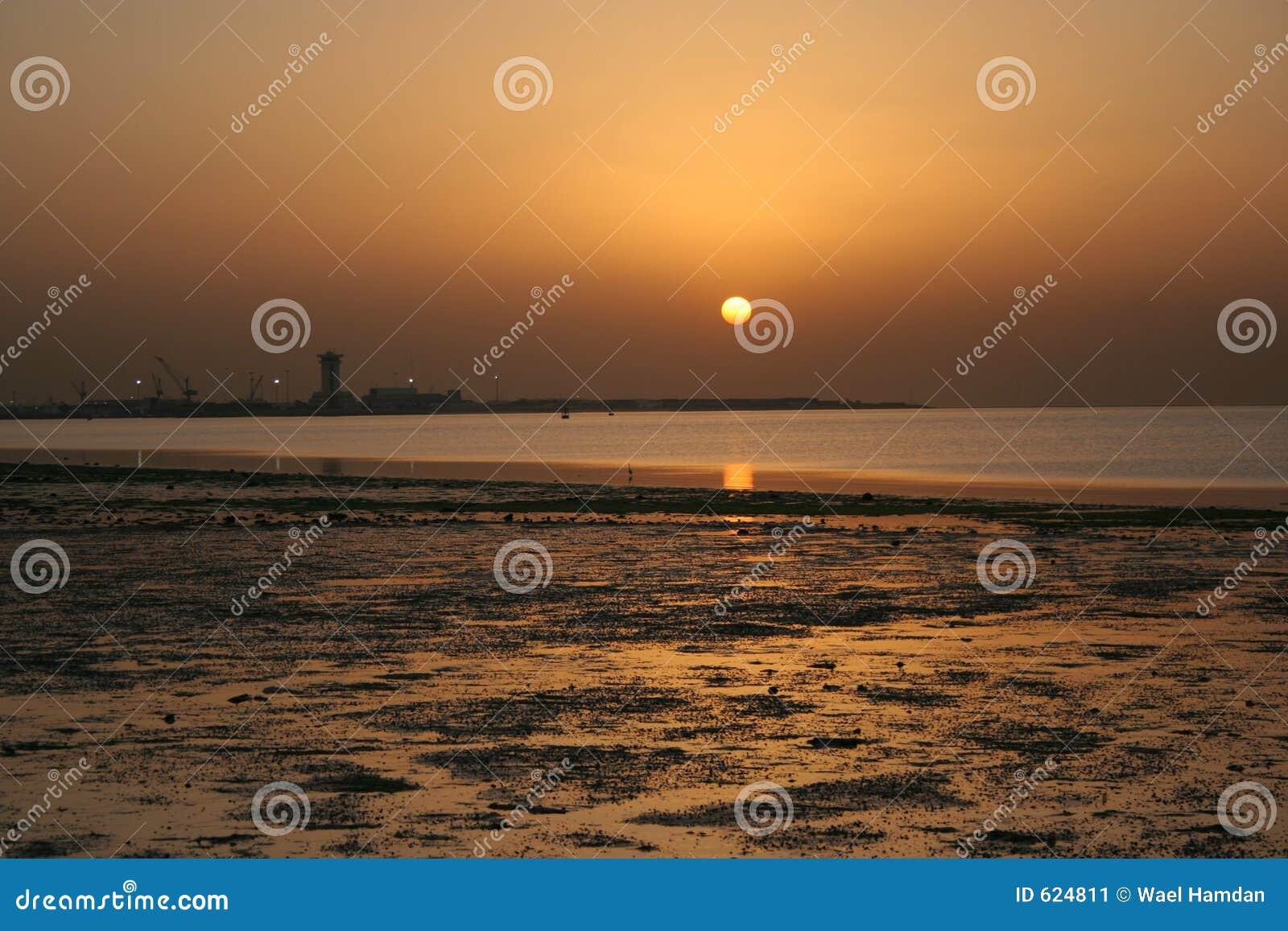 Zonsondergang in Koeweit
