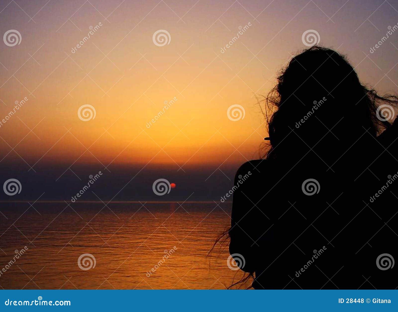 Zonsondergang met vrouwen