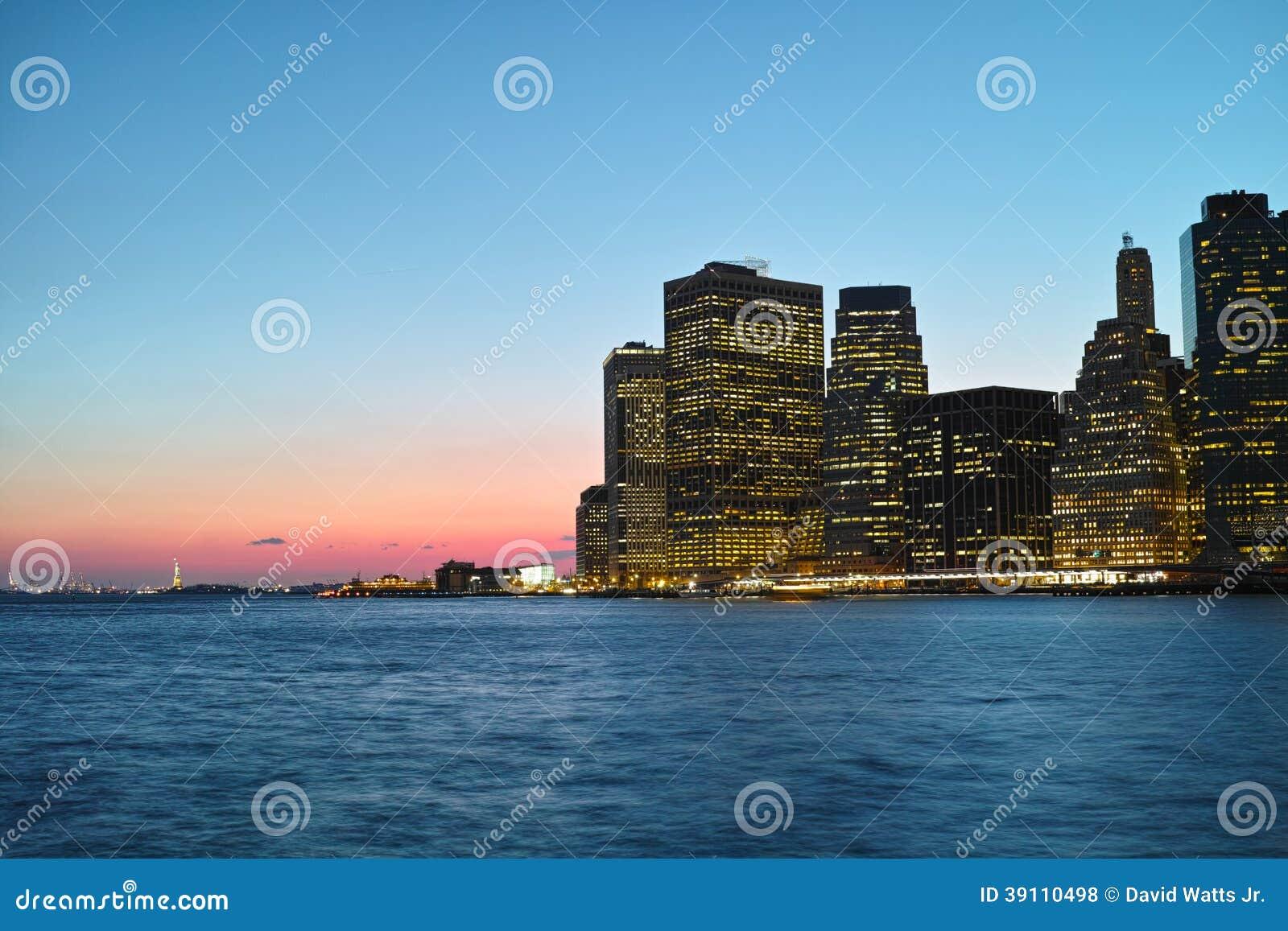 Zonsondergang in NYC
