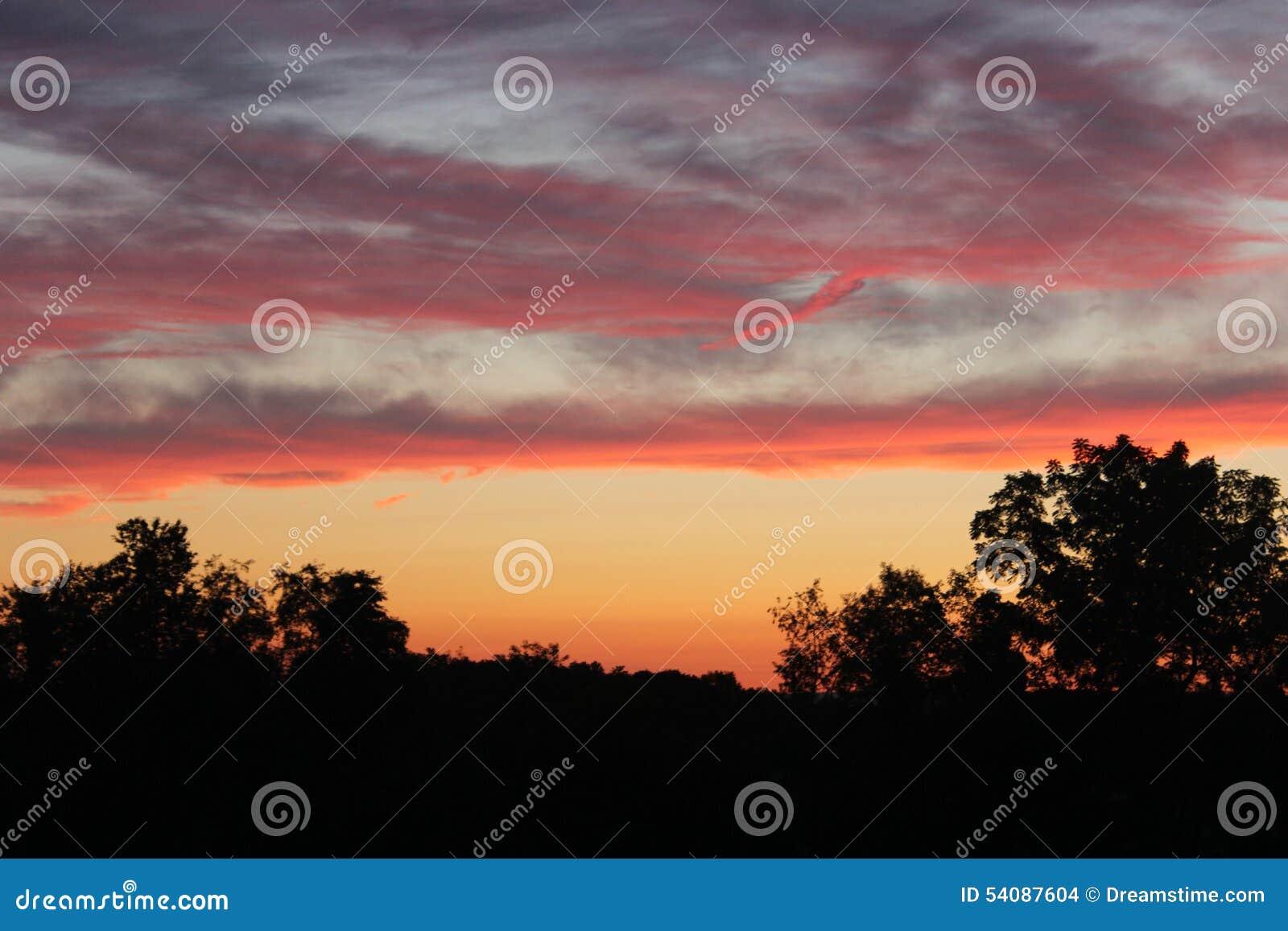 Zonsondergang op Terra