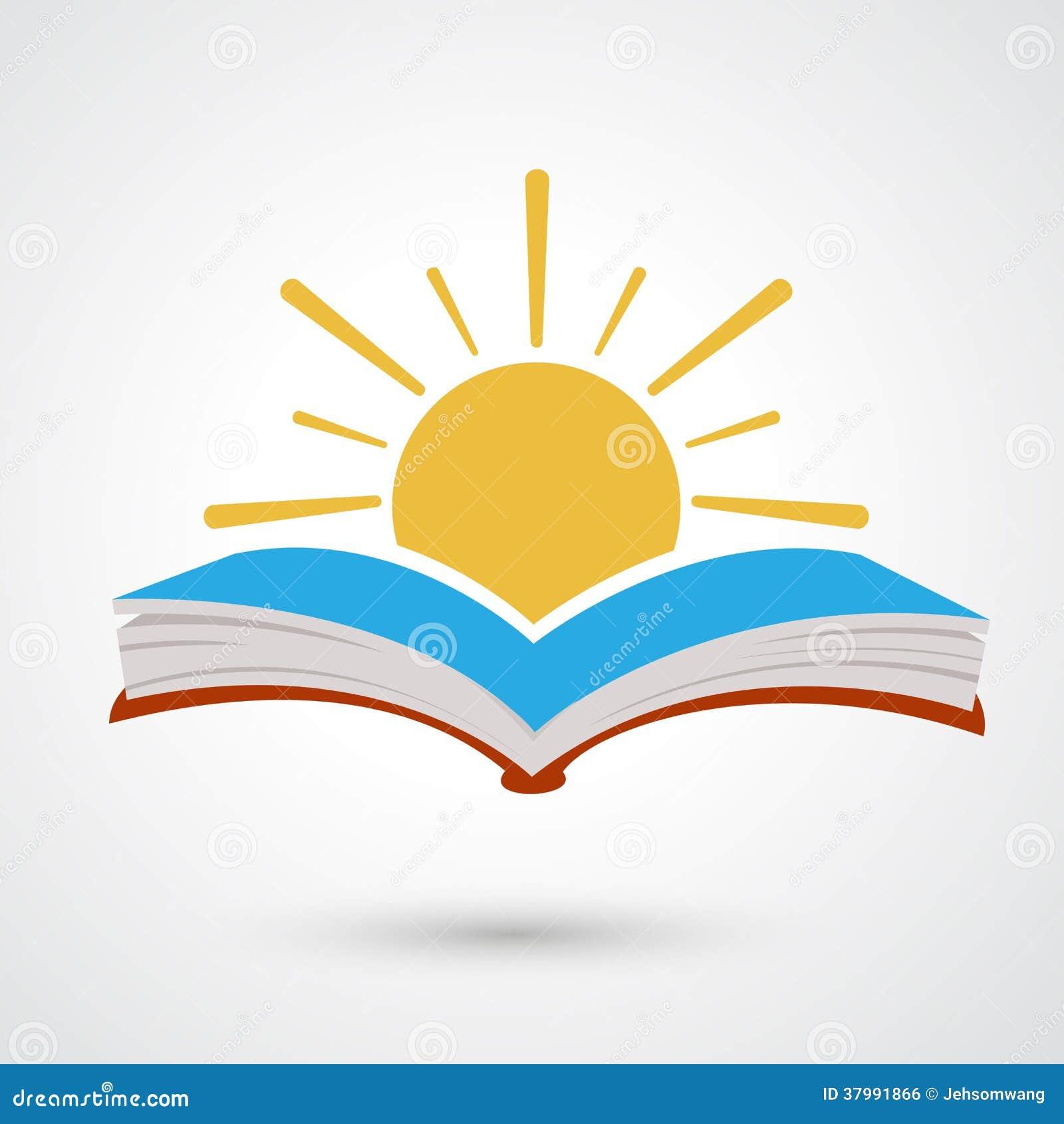 Zonsondergang open boek
