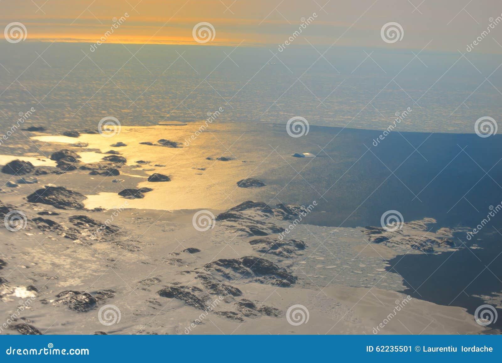 Zonsondergang over Groenland
