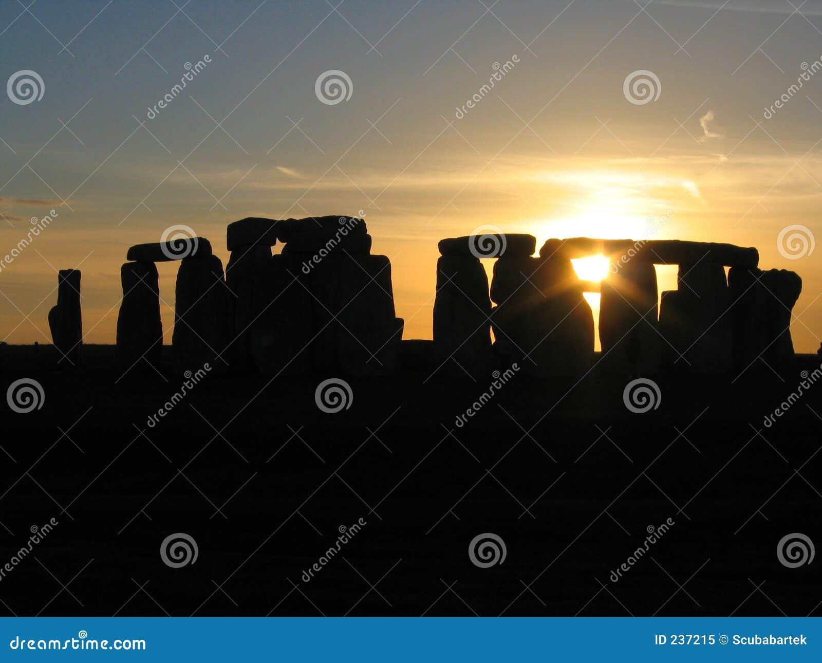 Zonsondergang over Stonehenge