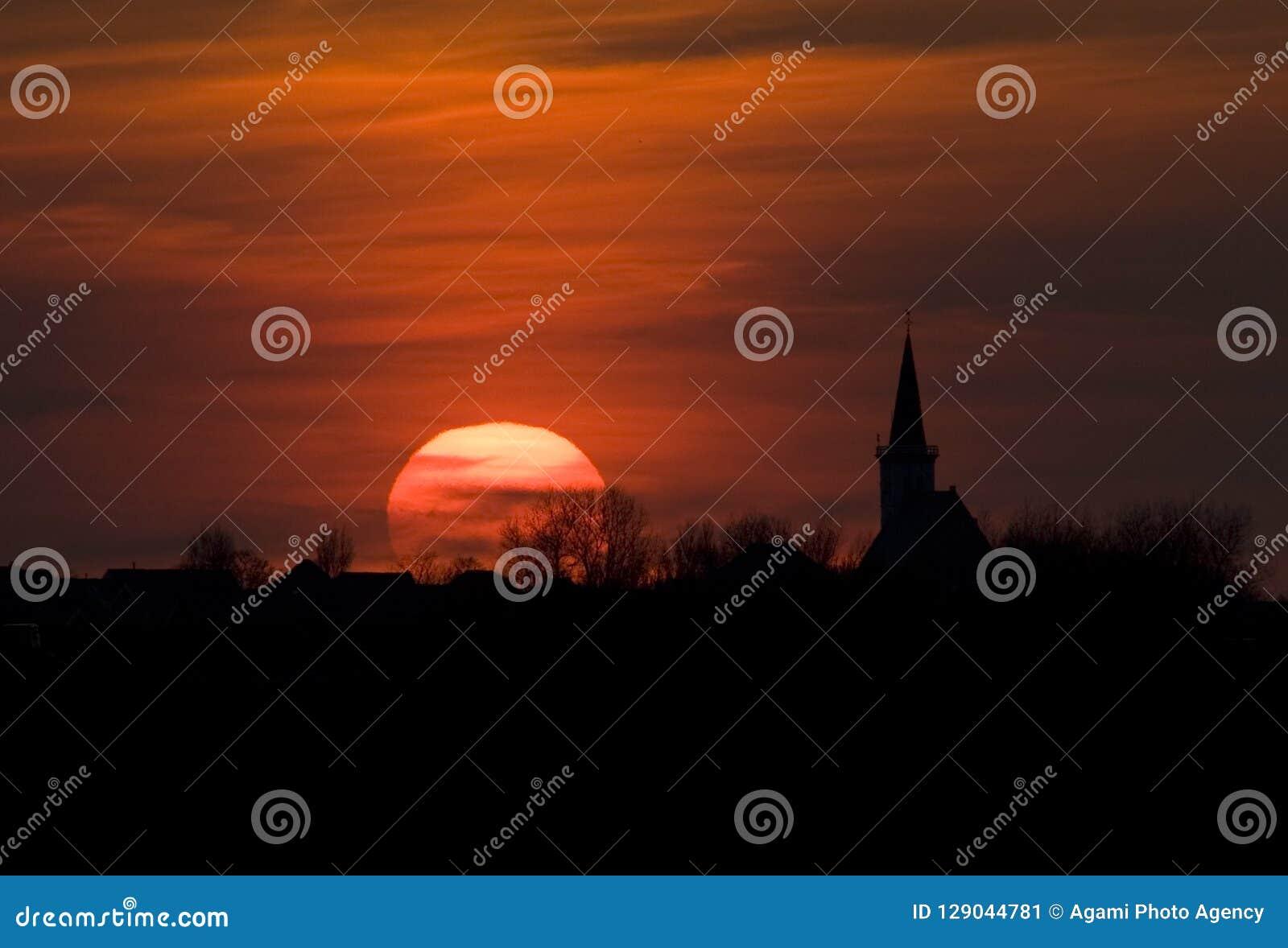 Zonsondergang Texel Nederland, Zonsondergang Texel Nederland