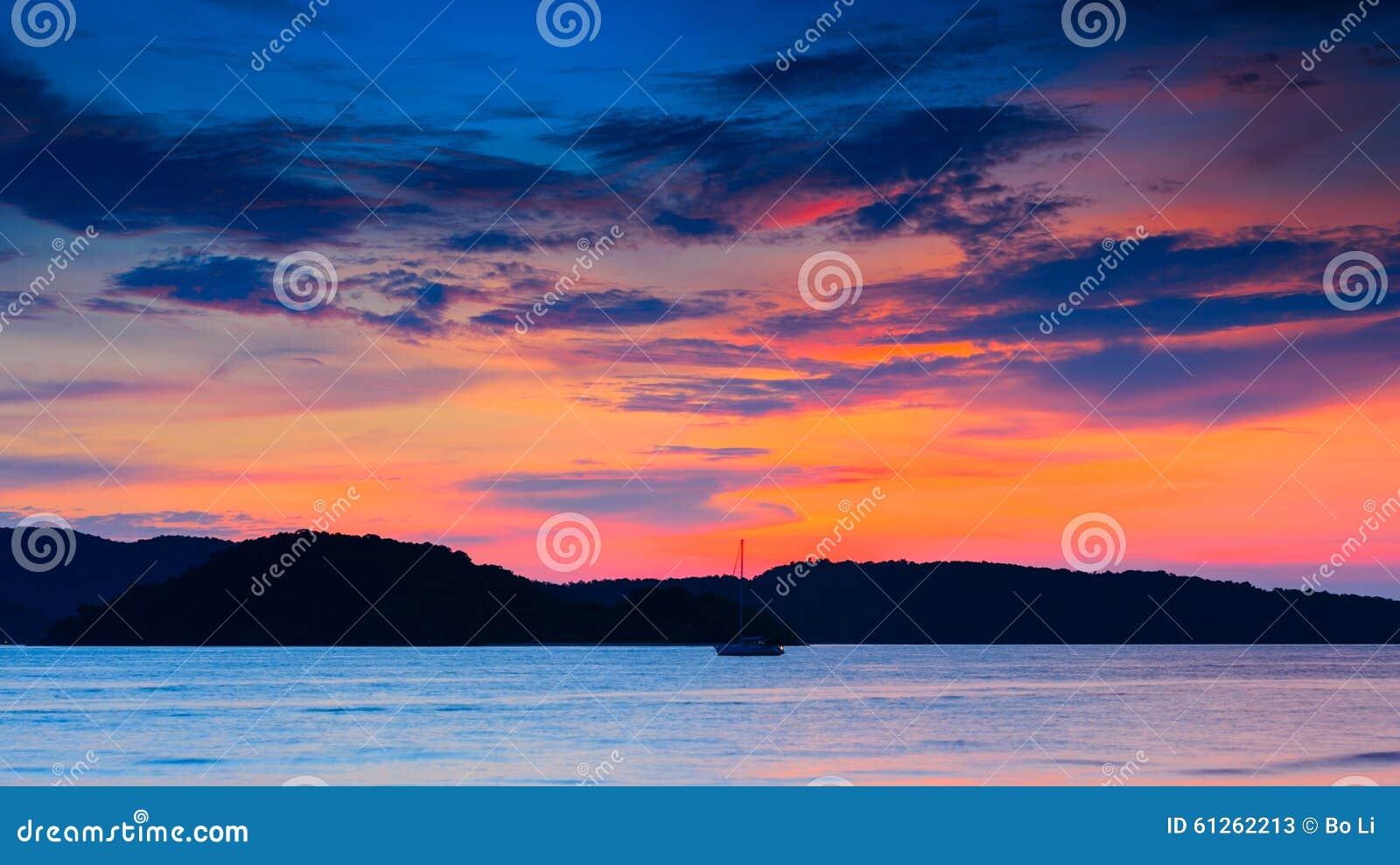 Zonsondergang van Langkawi