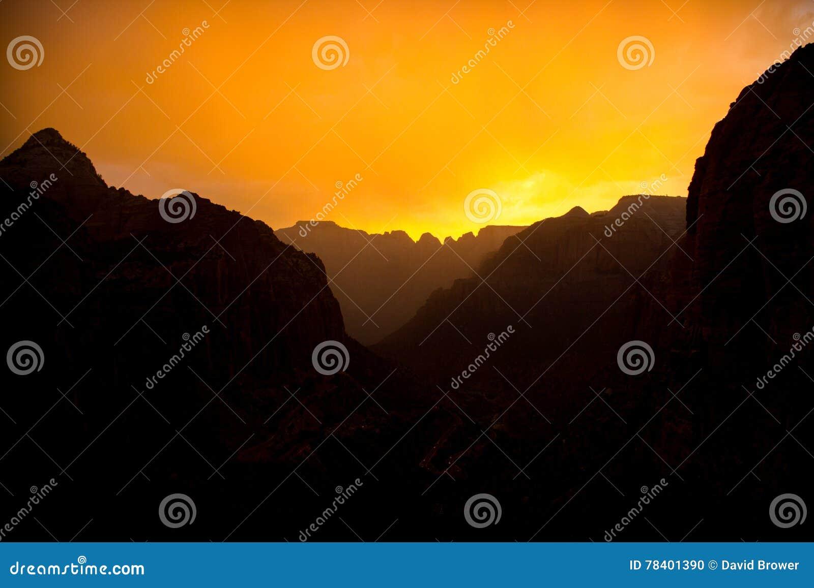 Zonsondergangsilhouet