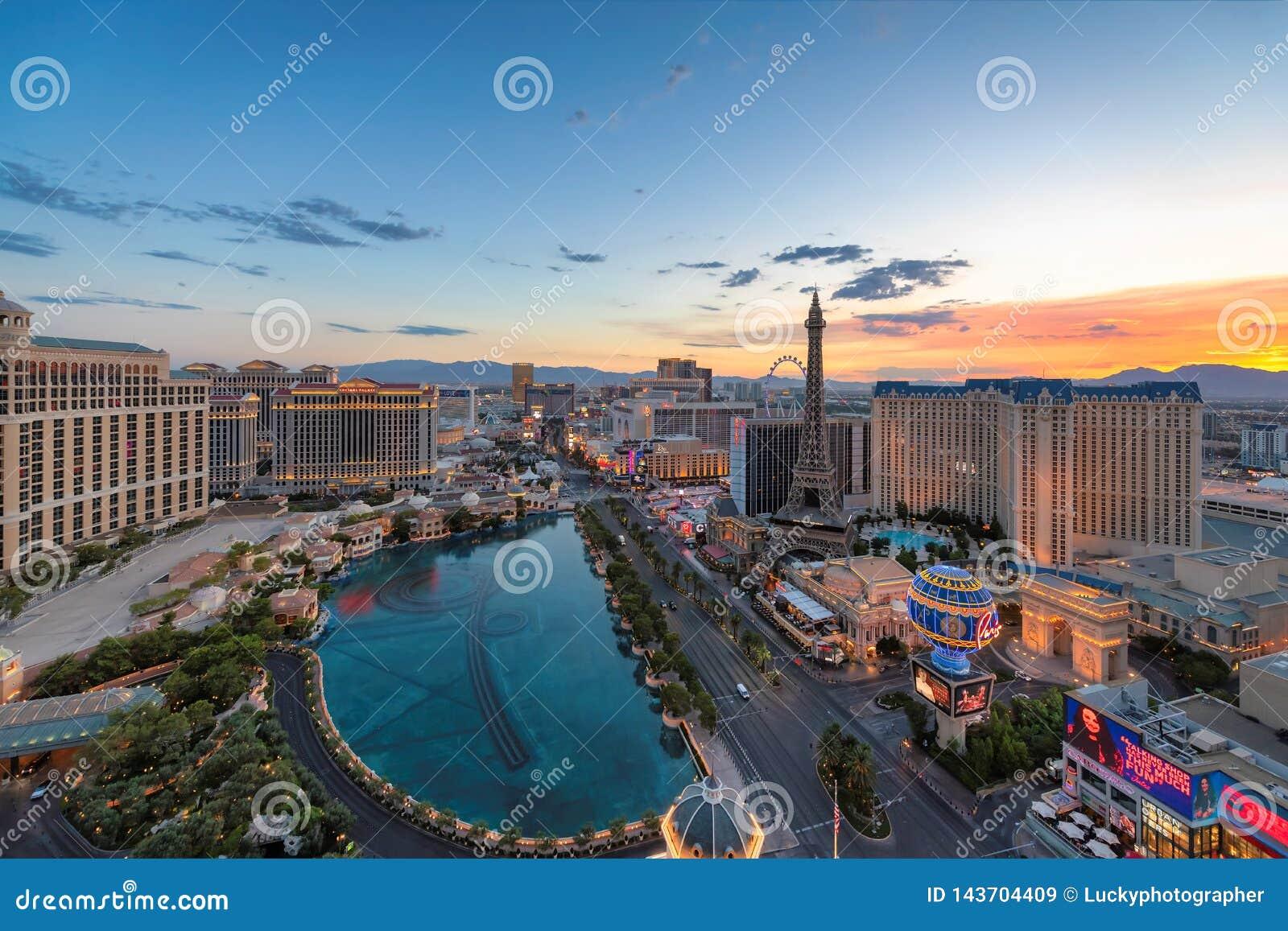 Zonsopgang bij de Strook van Las Vegas