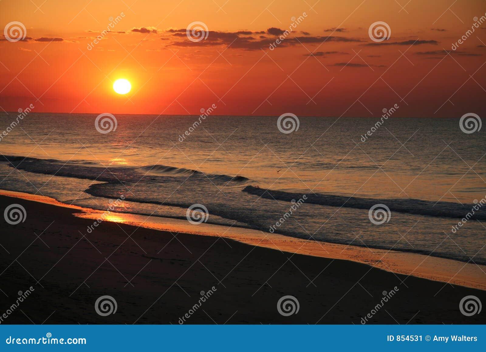 Zonsopgang bij het strand