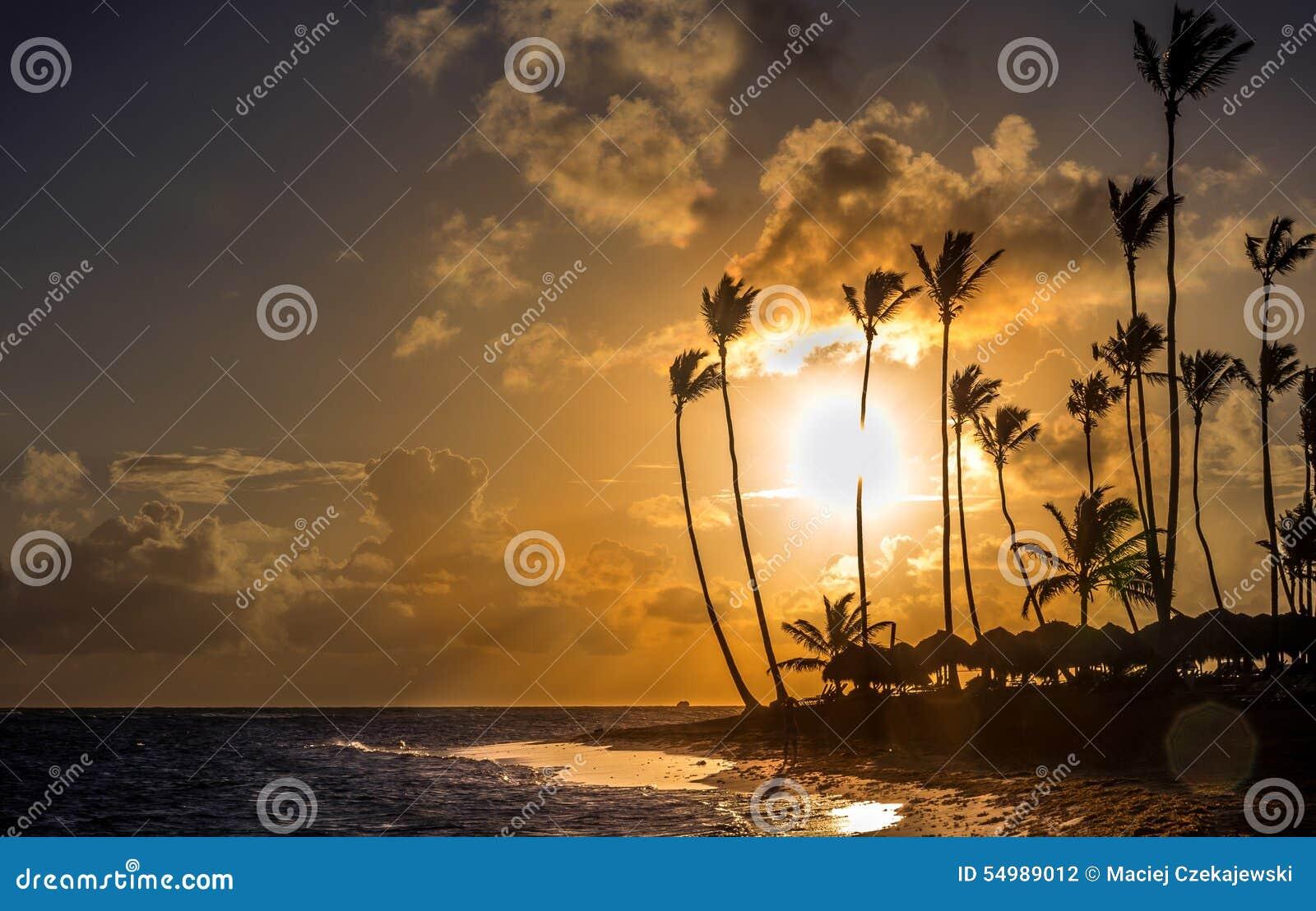 Zonsopgang over Caraïbische overzees