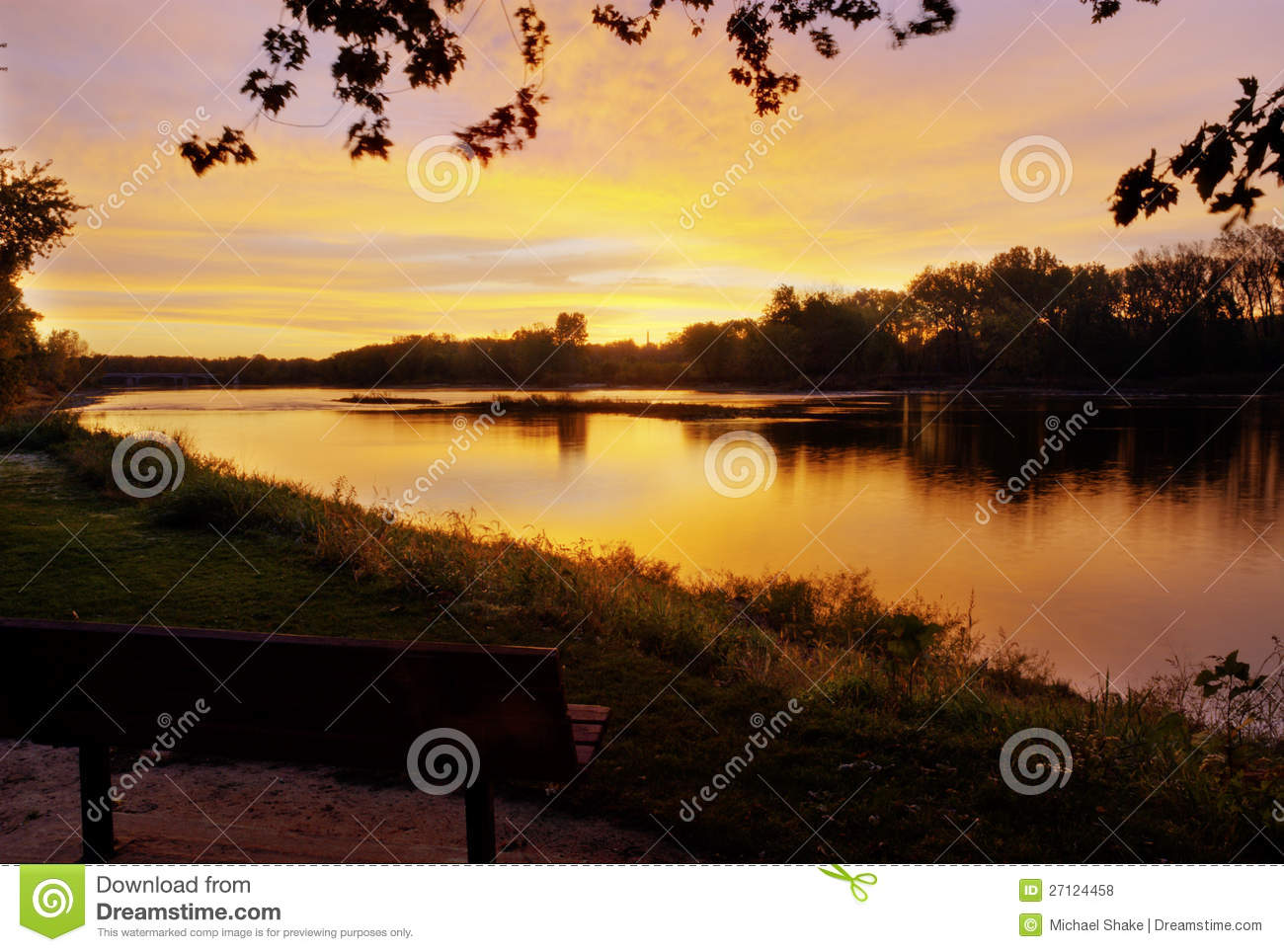 Zonsopgang over de Rivier Maumee