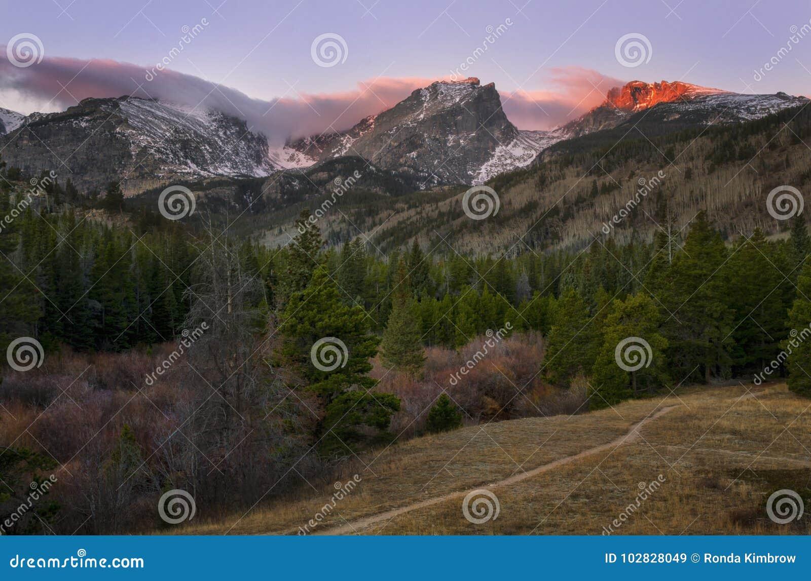 Zonsopgang in Rocky Mountain National Park Estes-Park Colorado