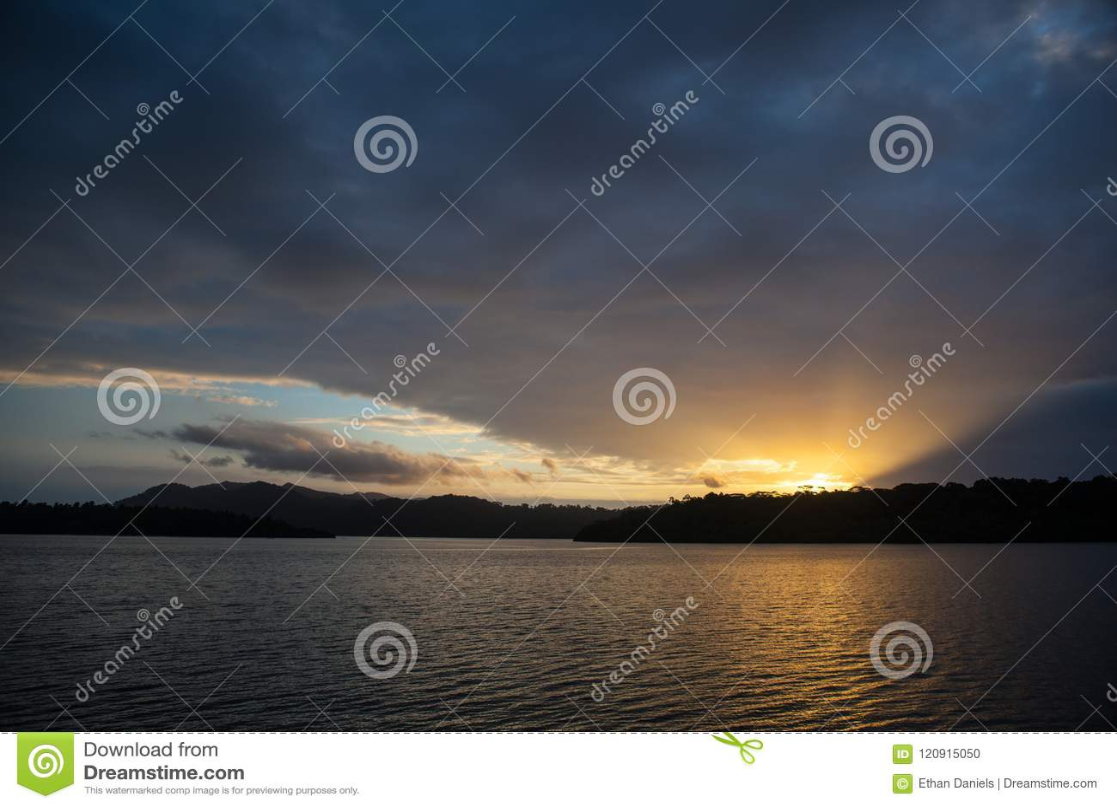 Zonsopgang in Solomon Islands