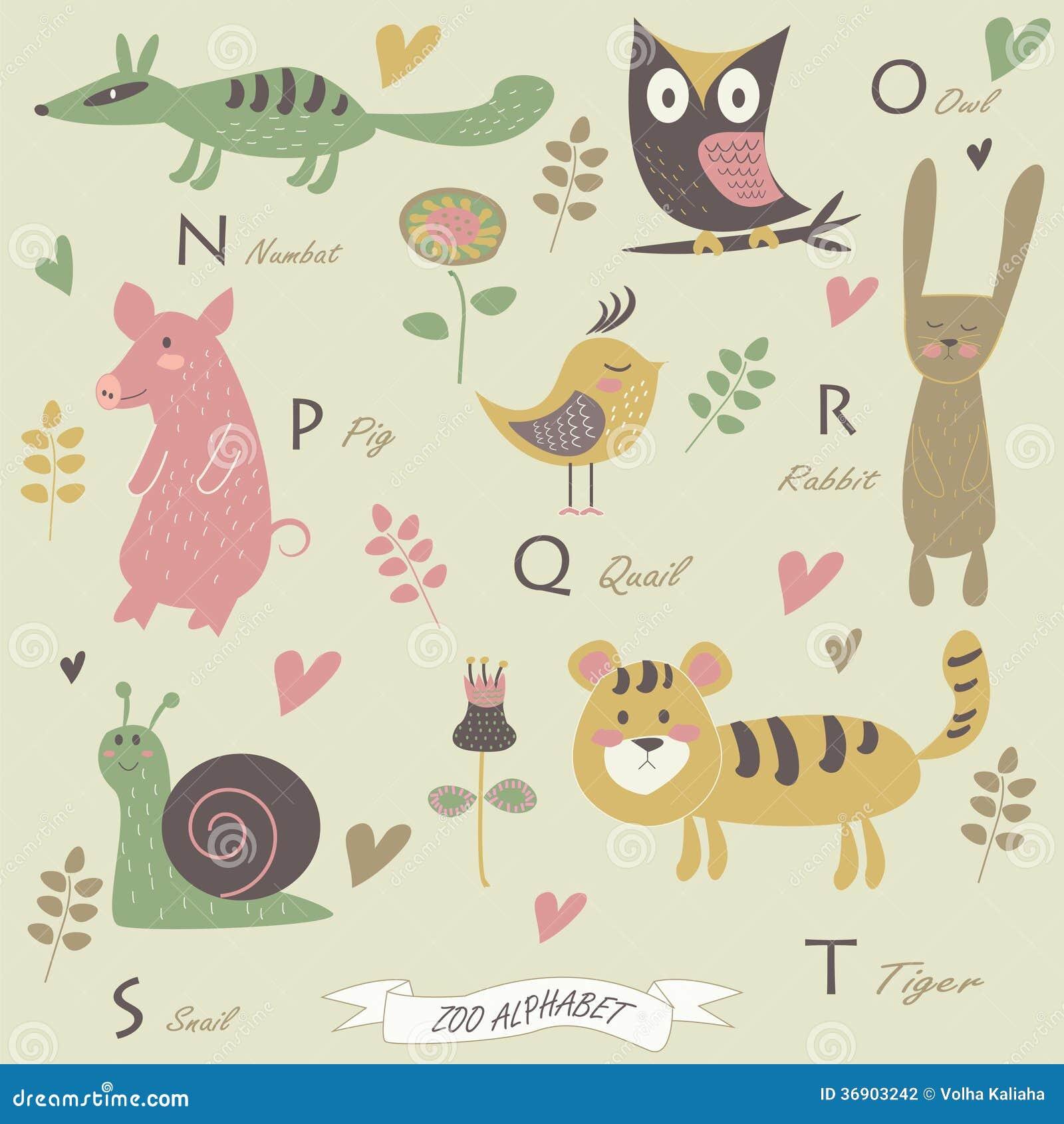 Download Zoo alphabet stock vector. Illustration of alphabet, card - 36903242
