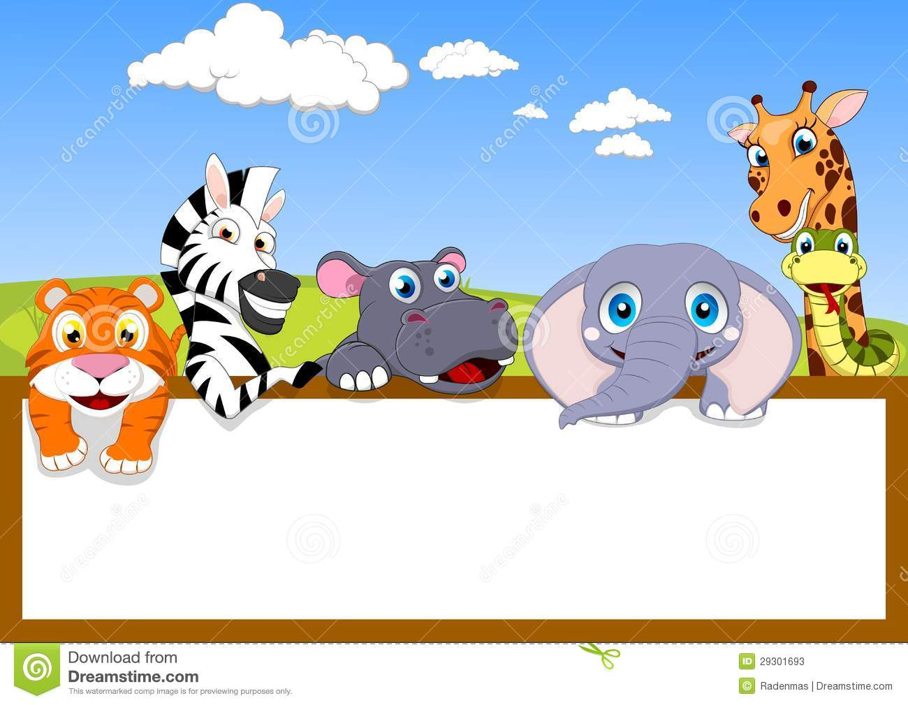 Zoo Animals Together Clipart Zoo Animal With...