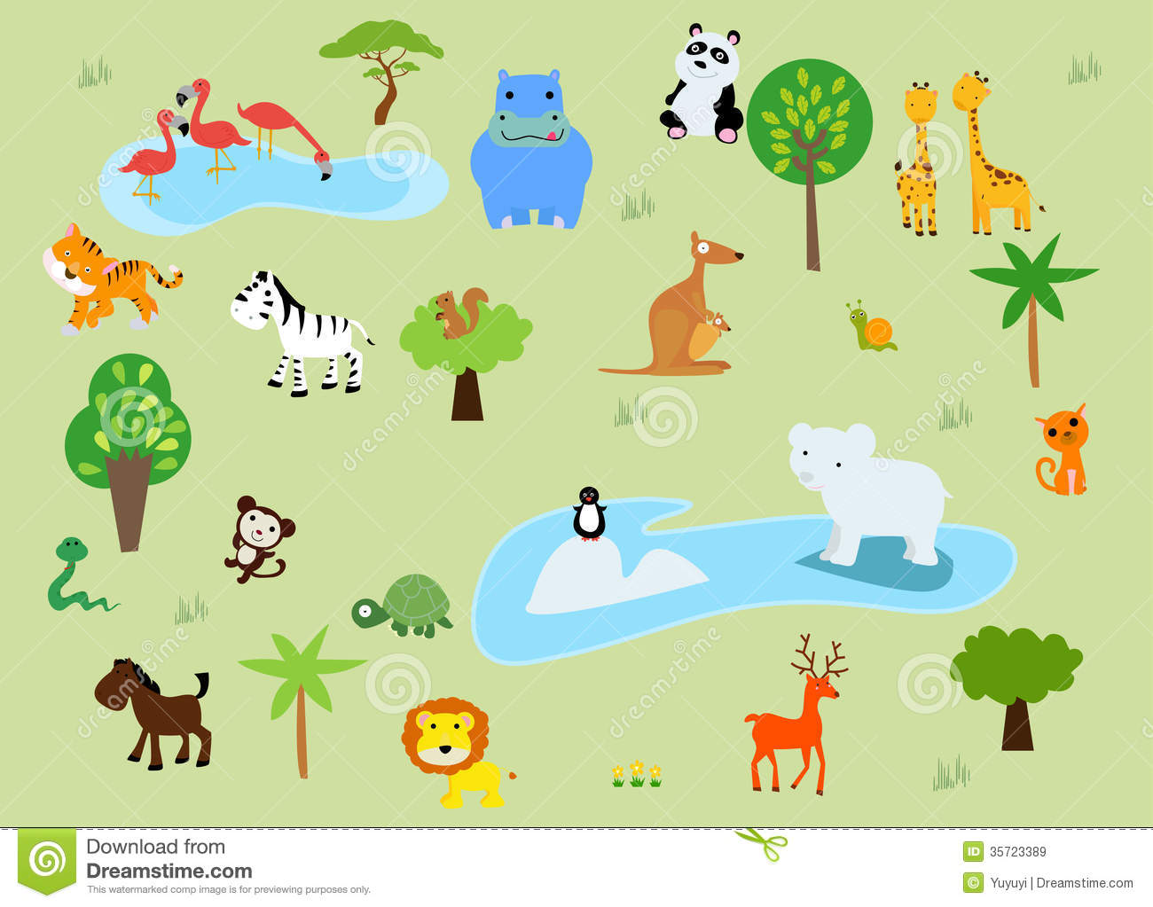 A Zoo And The Animals In Beautiful Nature Royalty Free