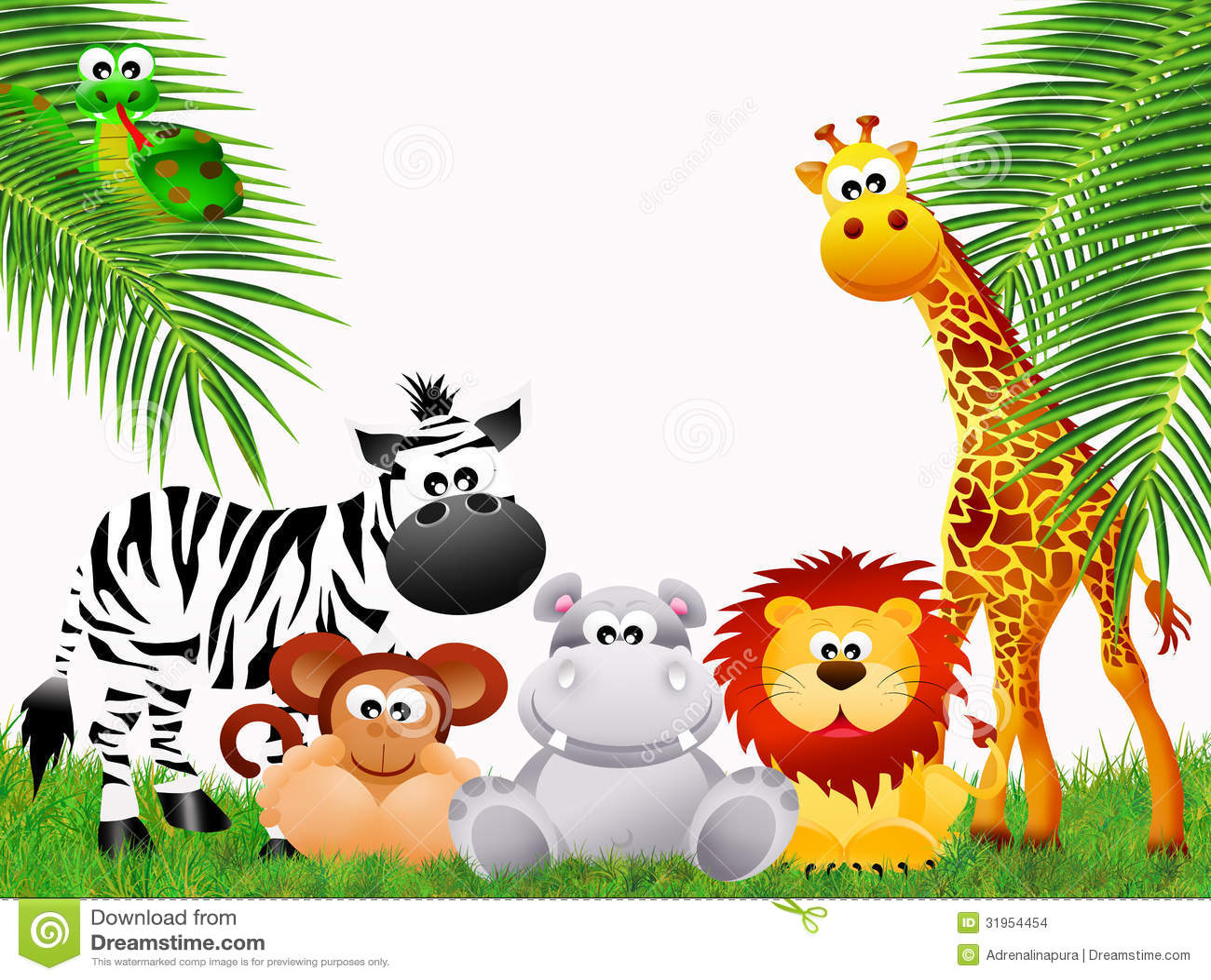 zoo animals cartoon stock images image 31954454