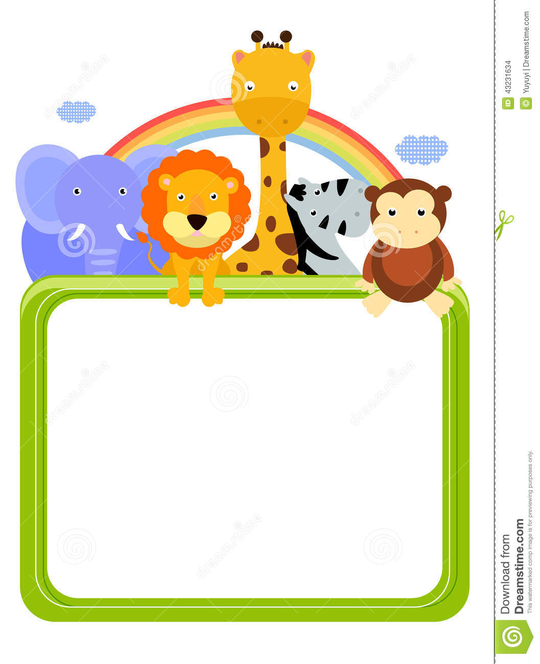 Zoo Animals And Frame Stock Vector - Image: 43231634