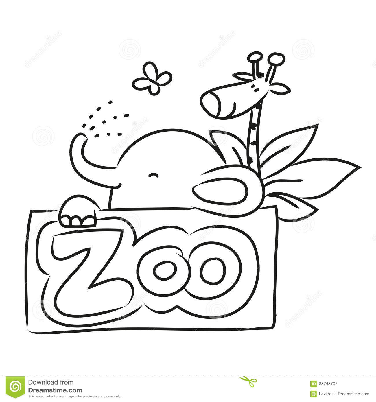 This is a graphic of Slobbery Drawing Zoo Animals