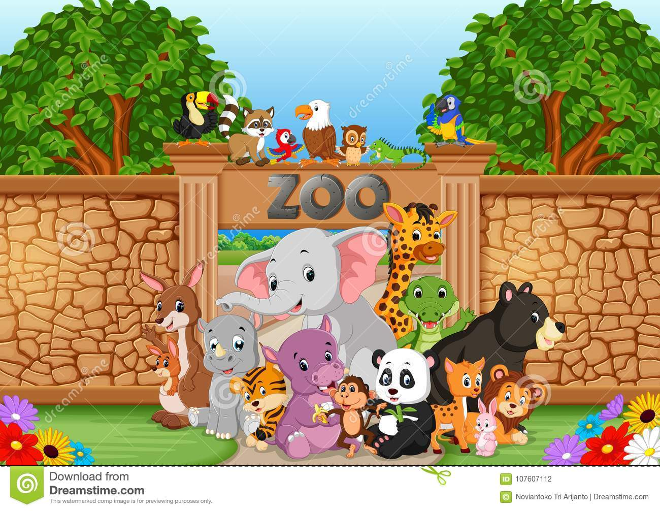 Zoo ed animali in una bella natura