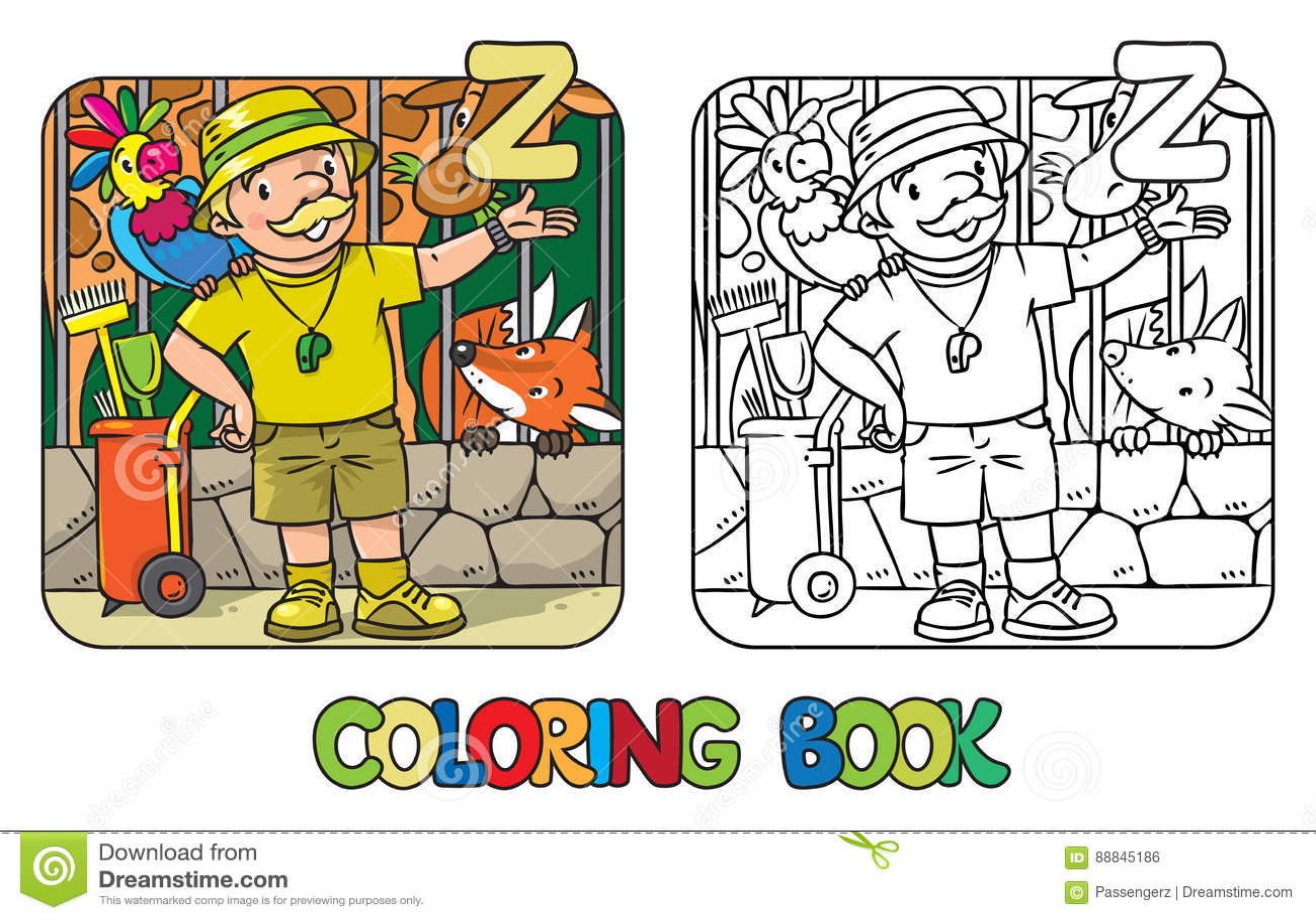 Abc Alphabet Book Cart Childrens Coloring