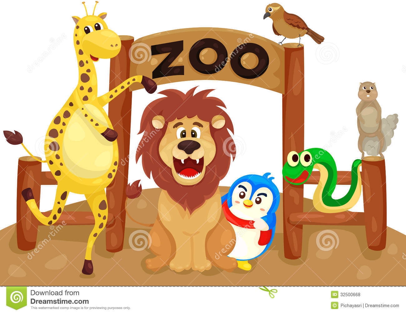 Zoo Clipart For Kids Zoo sign with animals