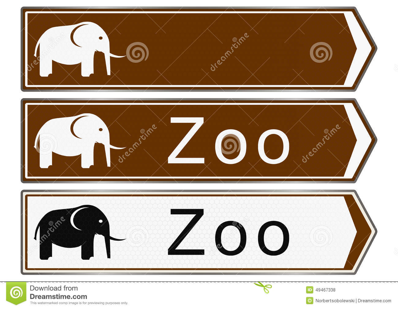 Zoo Sign Stock Illustration - Image: 49467338 Zoo Road Sign