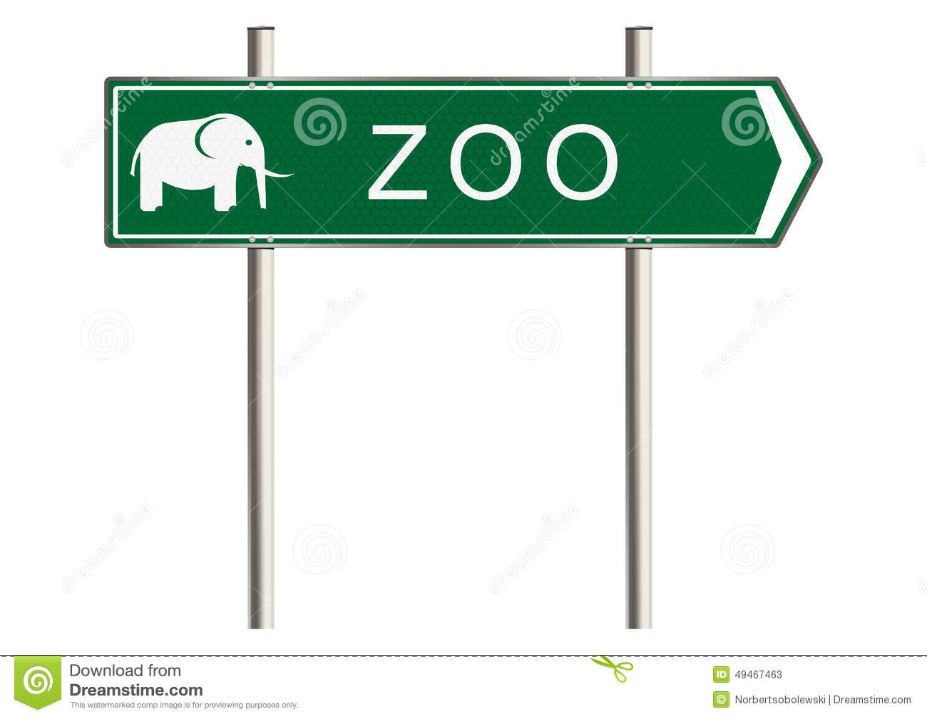 Zoo Sign Stock Illustration - Image: 49467463 Zoo Road Sign