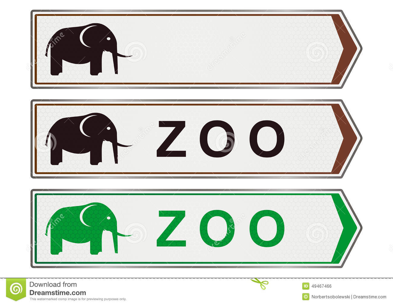Zoo Sign Stock Illustration - Image: 49467466 Zoo Road Sign