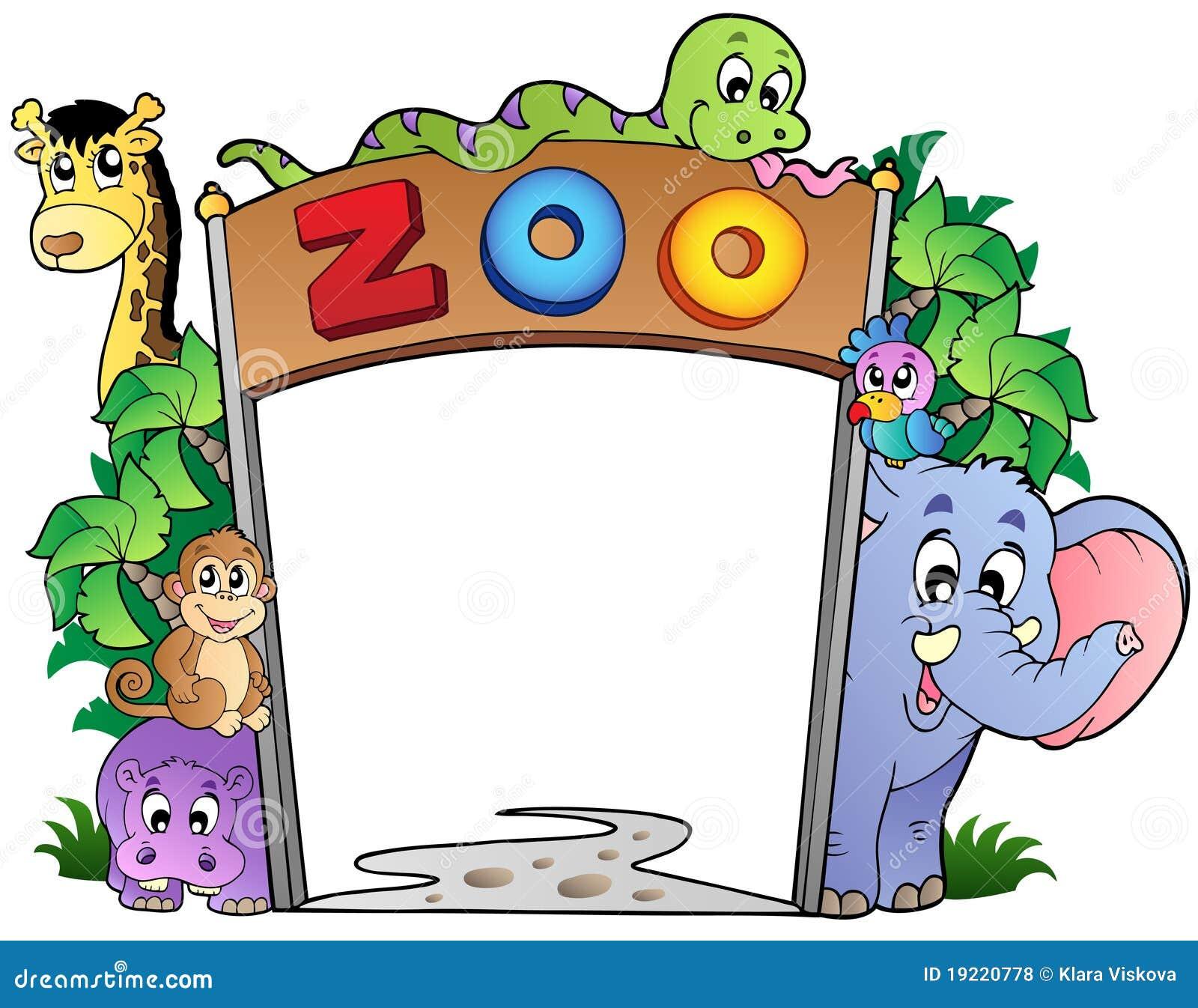 zooeingang mit verschiedenen tieren vektor abbildung hippopotamus clip art hippopotamus clip art