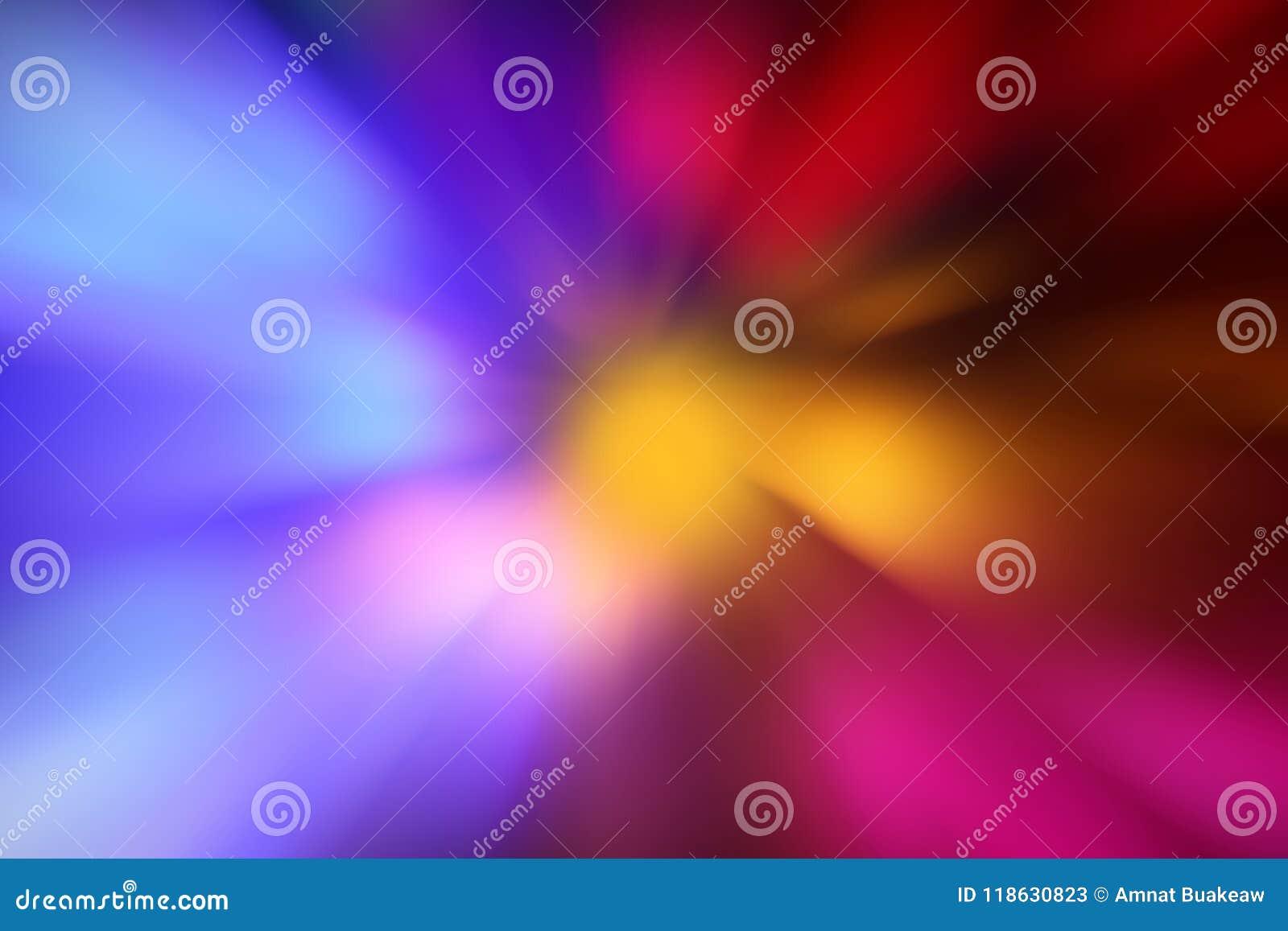 Zoom, blauer rosa heller Zoomeffekthintergrund, Beleuchtungs-Energietechnologie des bunten Radialsteigungseffektes digitale, LED-
