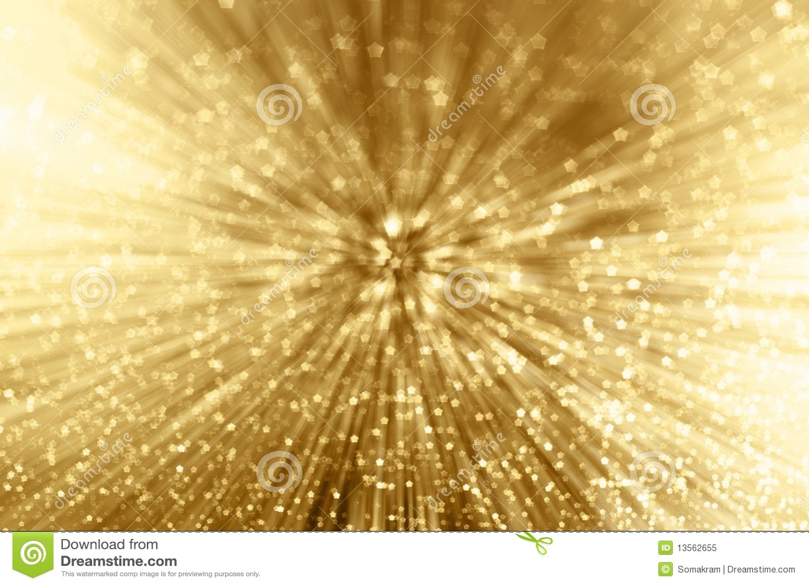 Zoom da faísca do ouro