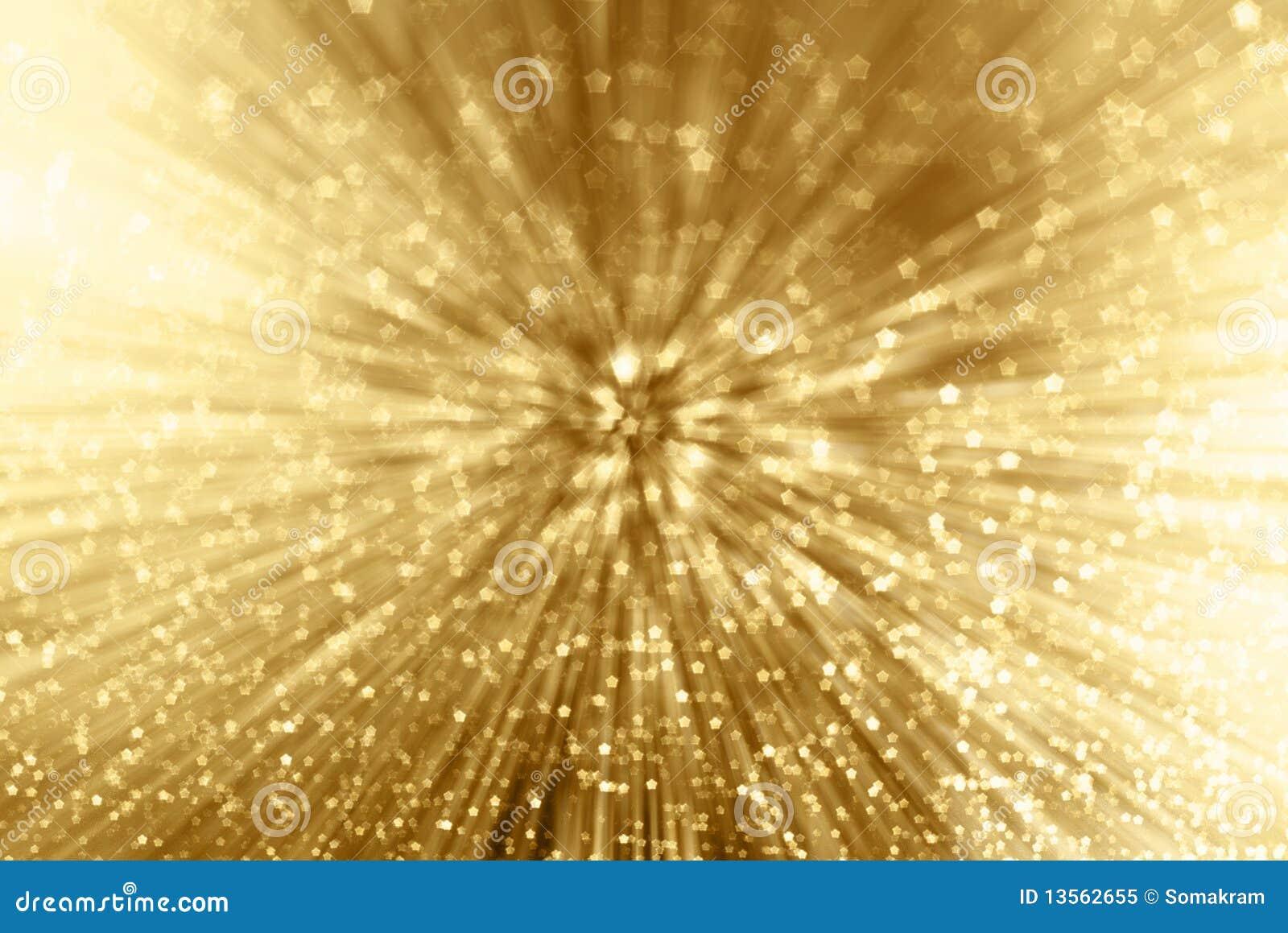 Zoom de la chispa del oro