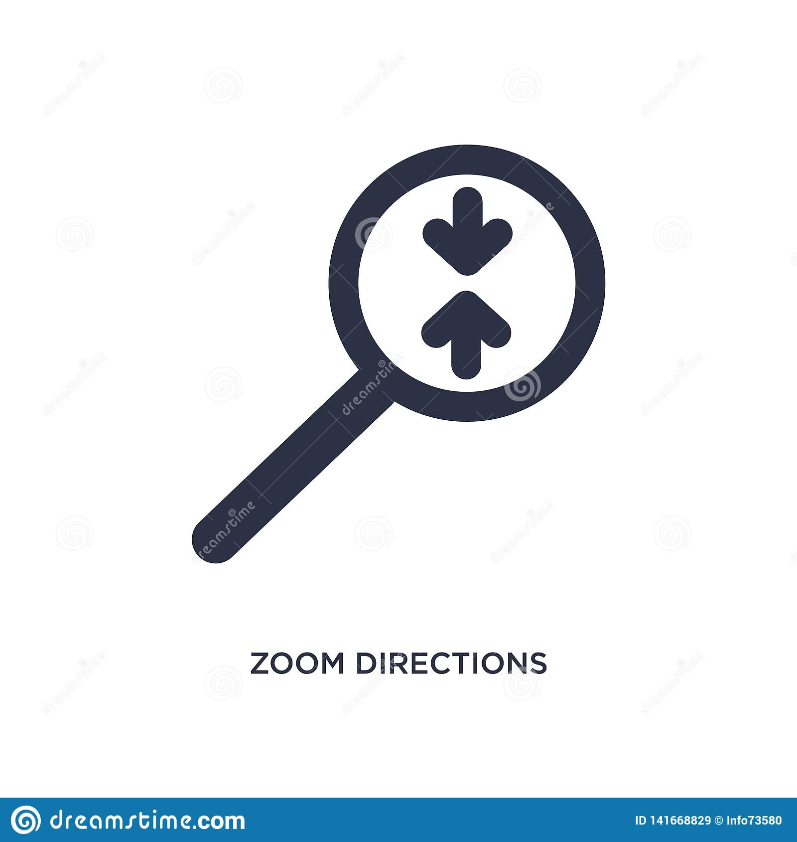 zoom directions icon on white background. Simple element illustration from arrows concept