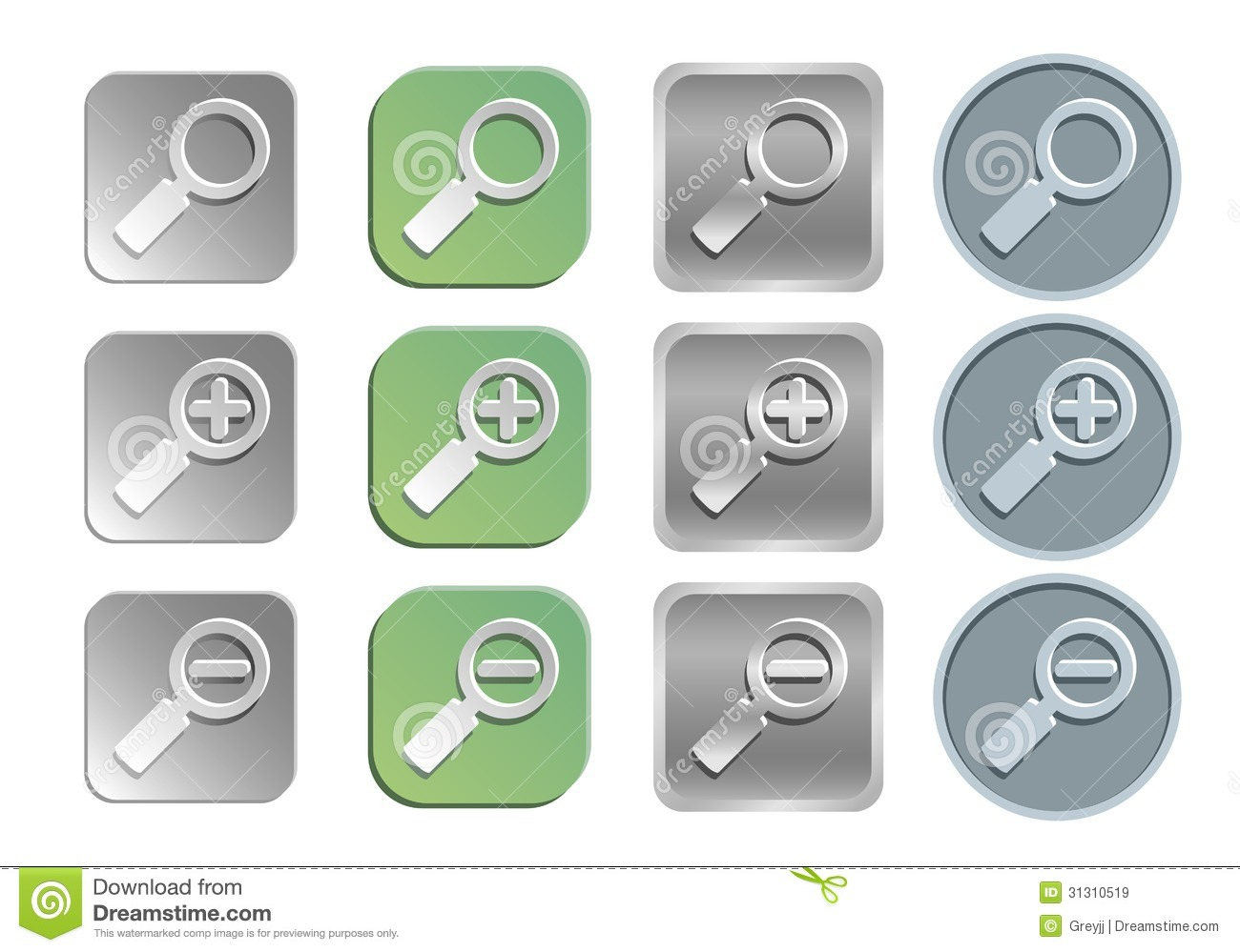 Zoom/search Icons Stock Vector. Illustration Of Design