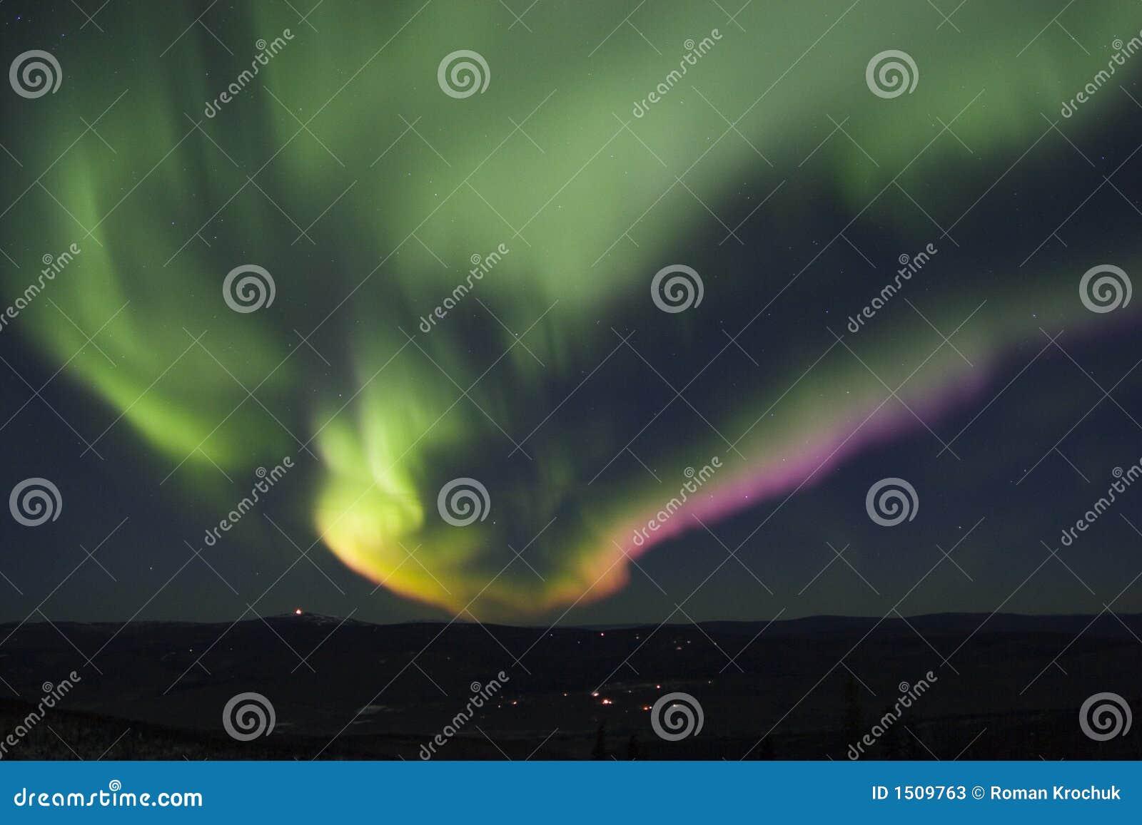 Zorza polarna kolor