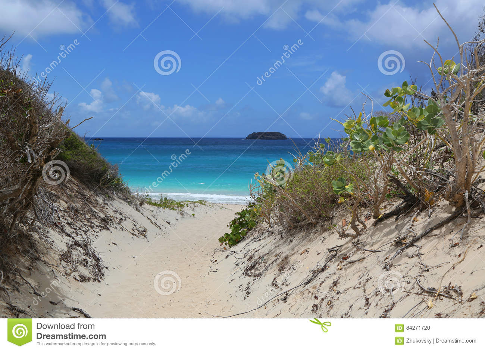Zout strand, St Baronets, de Franse Antillen