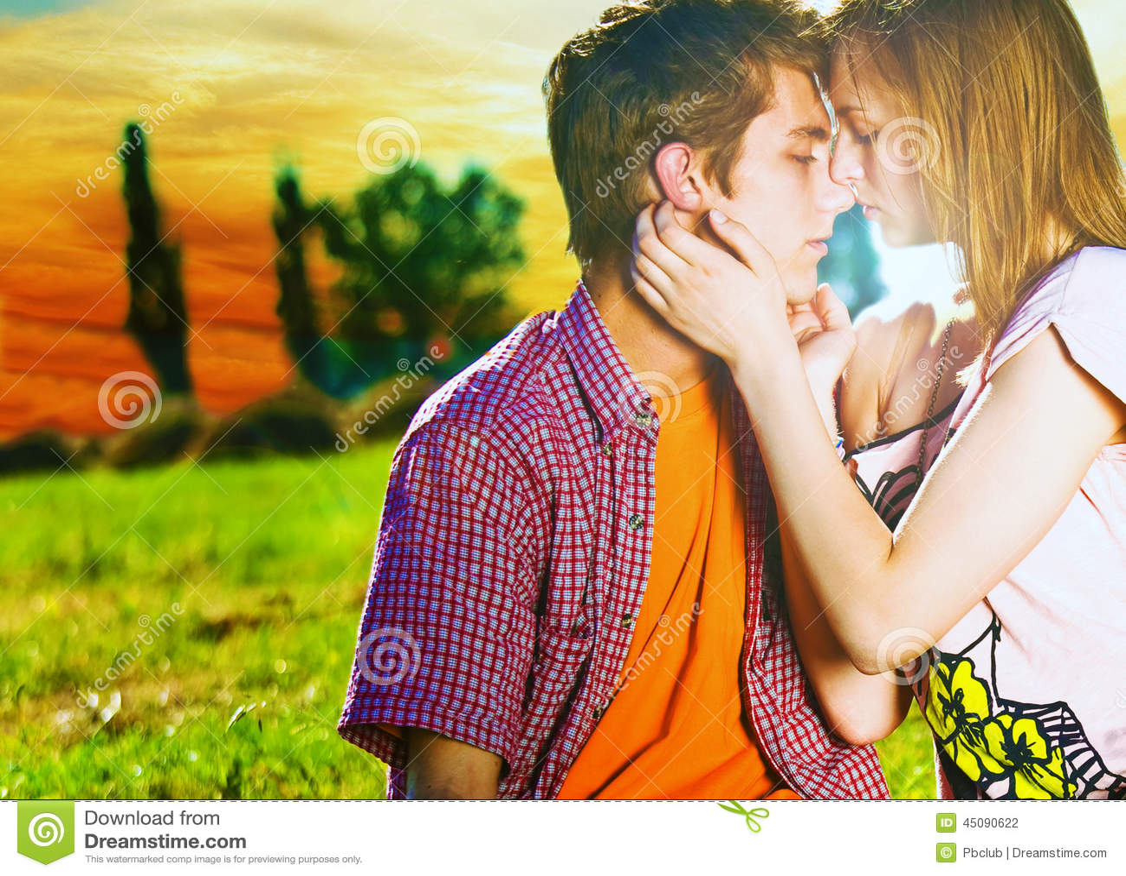 Zu küssen Paare ungefähr