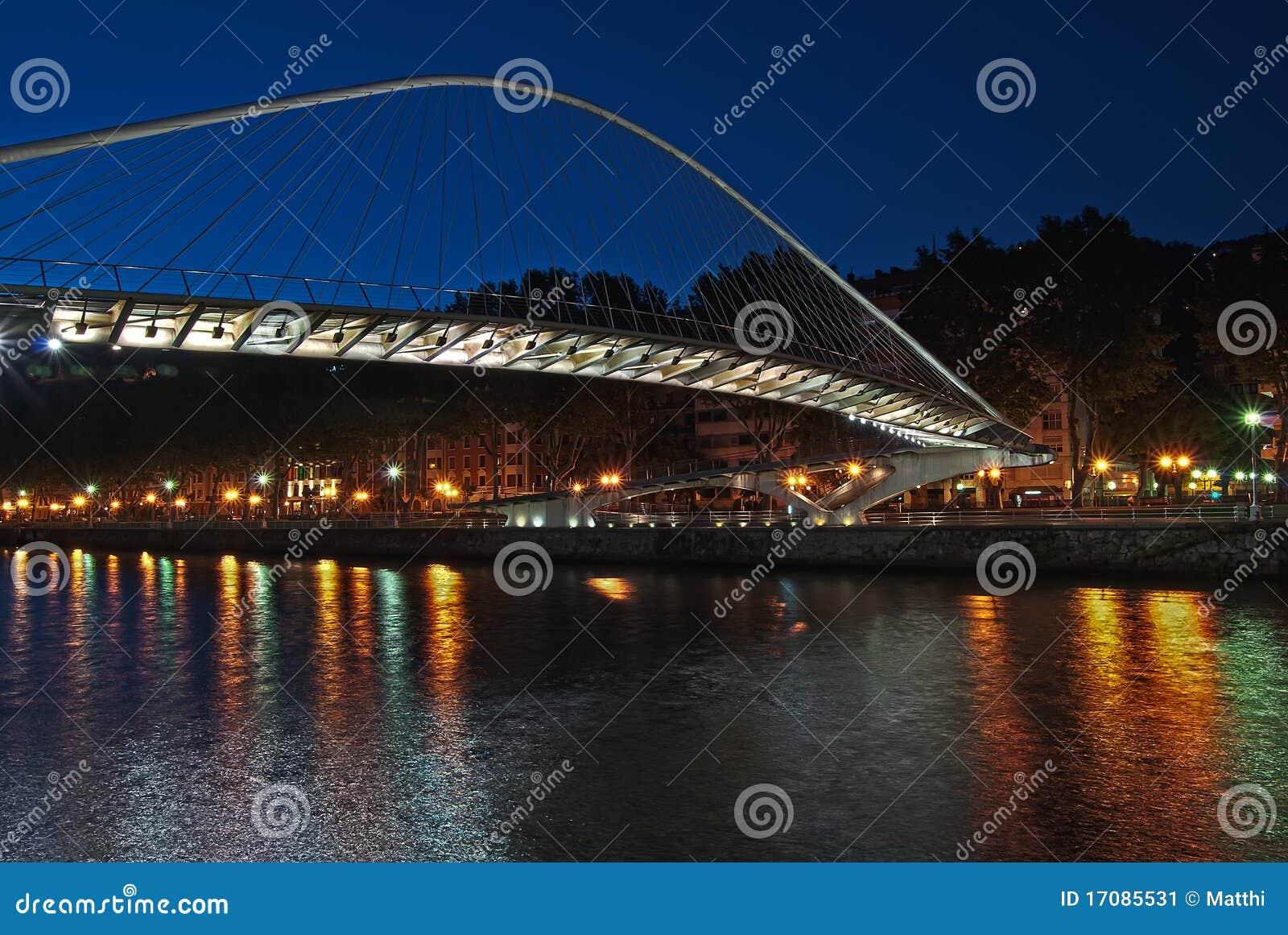 Zubizuri Brücke, Euskadi, Spanien