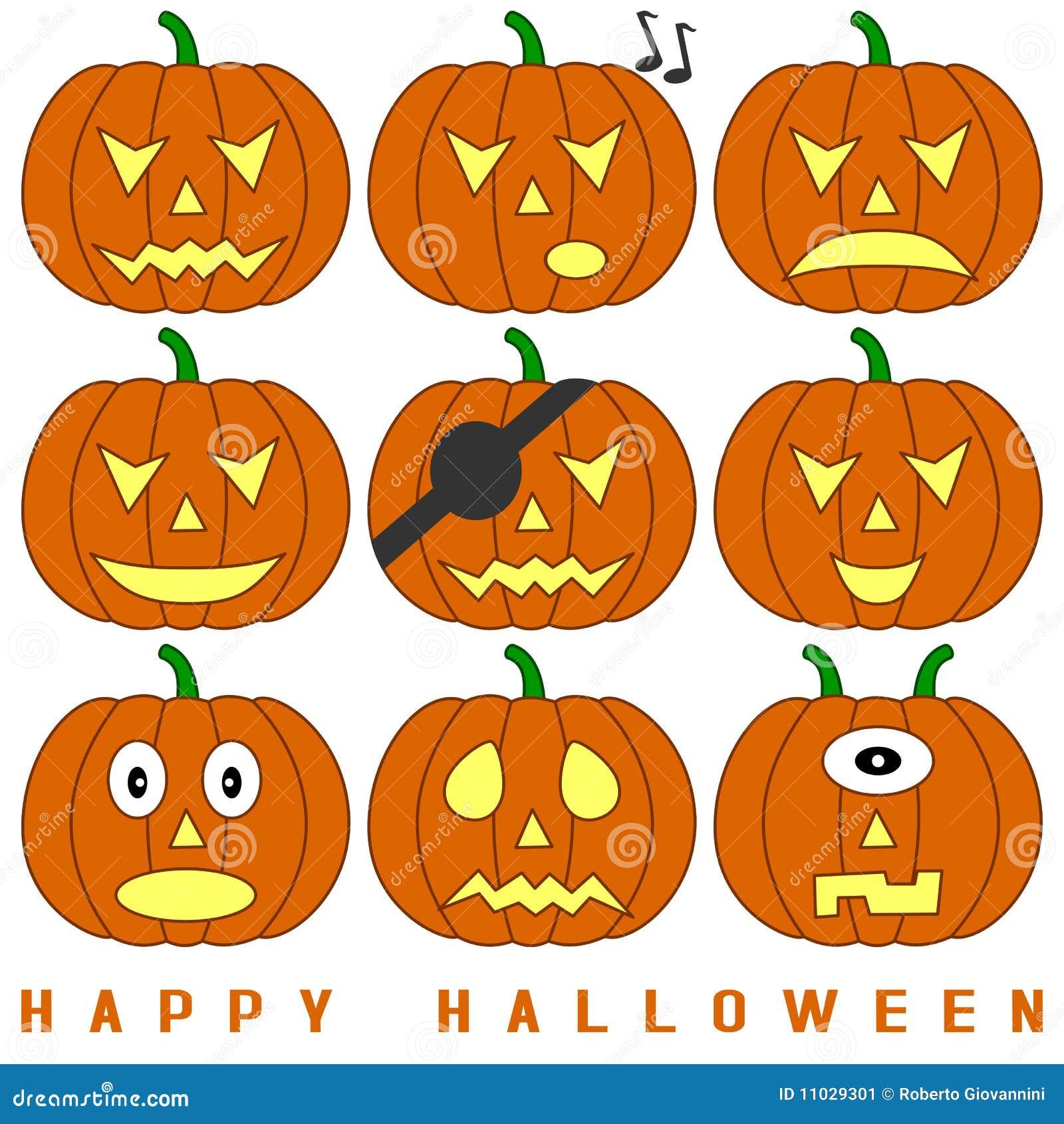 Zucche di halloween impostate immagine stock immagine for Foto zucche halloween