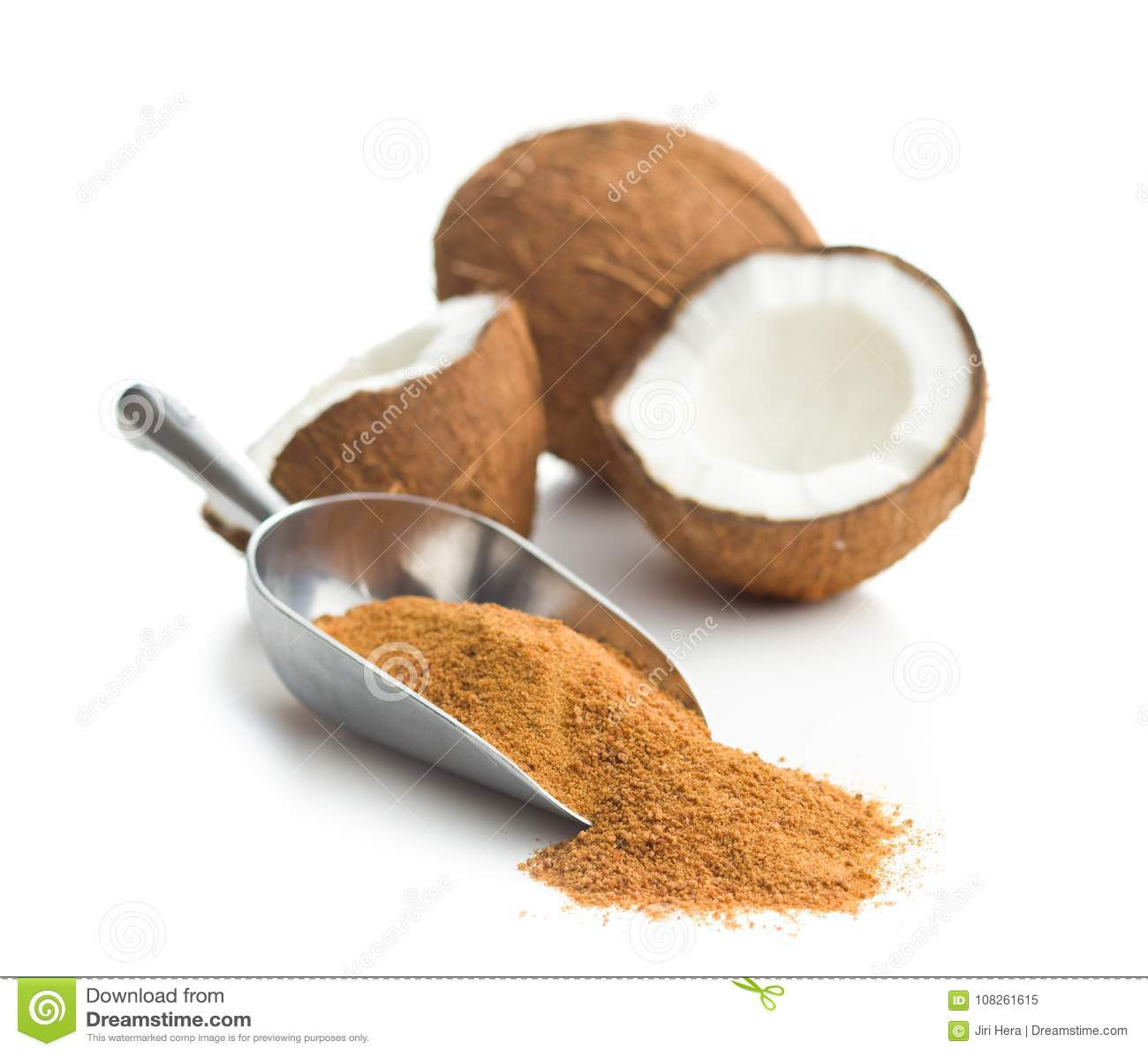 Zucchero dolce della noce di cocco