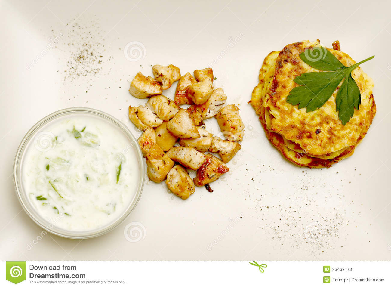 Zucchini Croquettes With Chicken Stock Photos - Image: 23439173