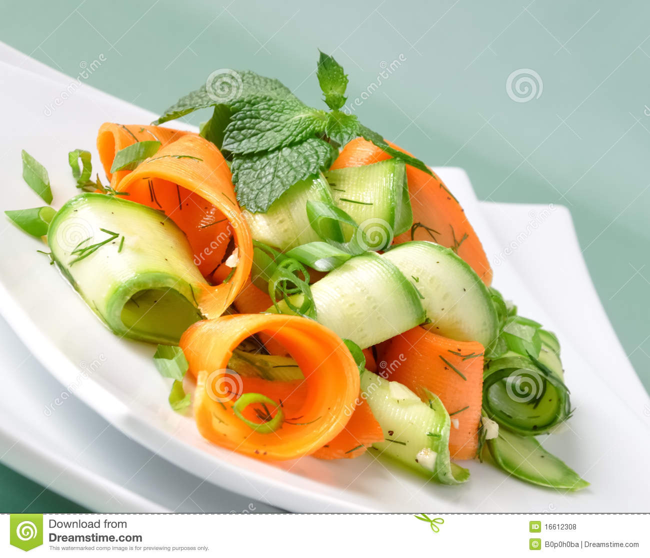 Zucchini Salad With Carrots Royalty Free Stock Photos - Image ...