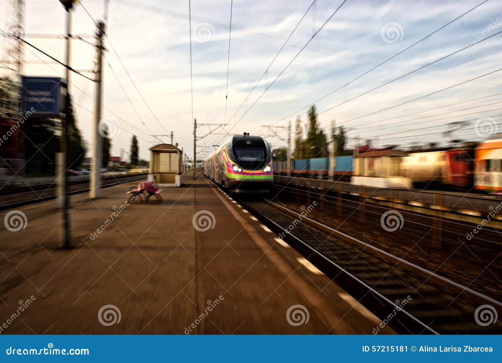 Zug in Rumänien