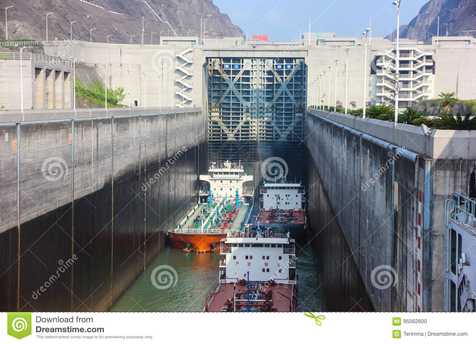 Zugang auf dem Jangtse, Three Gorge Dam, China