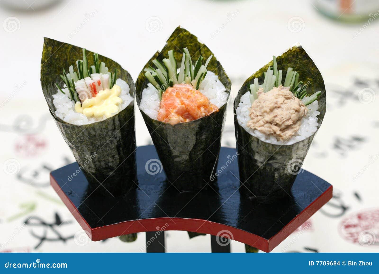 Zugebereitete und köstliche Sushi eingelassenes Studio